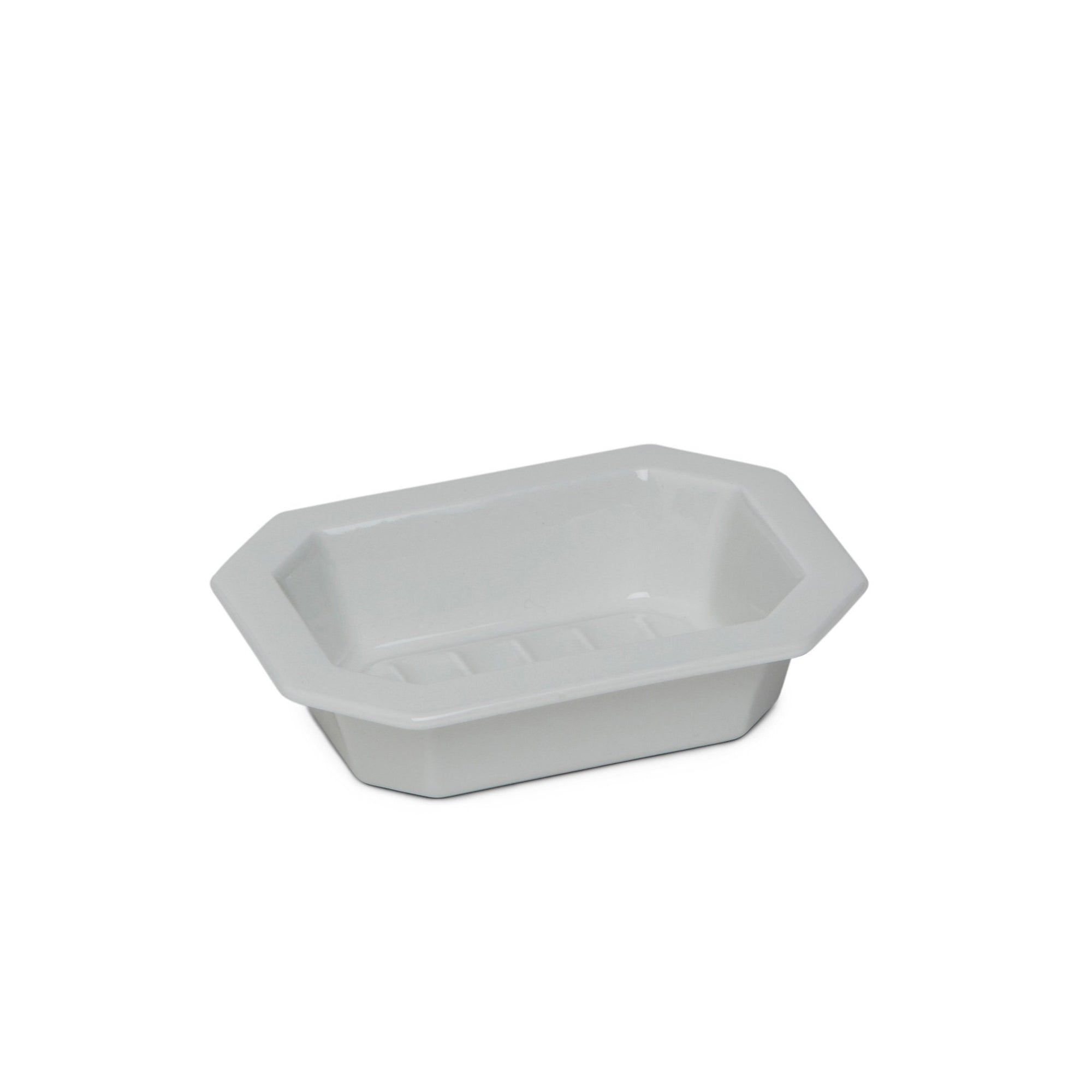3398-WHT Sherle Wagner International Harrison Ceramic Soap Dish in White