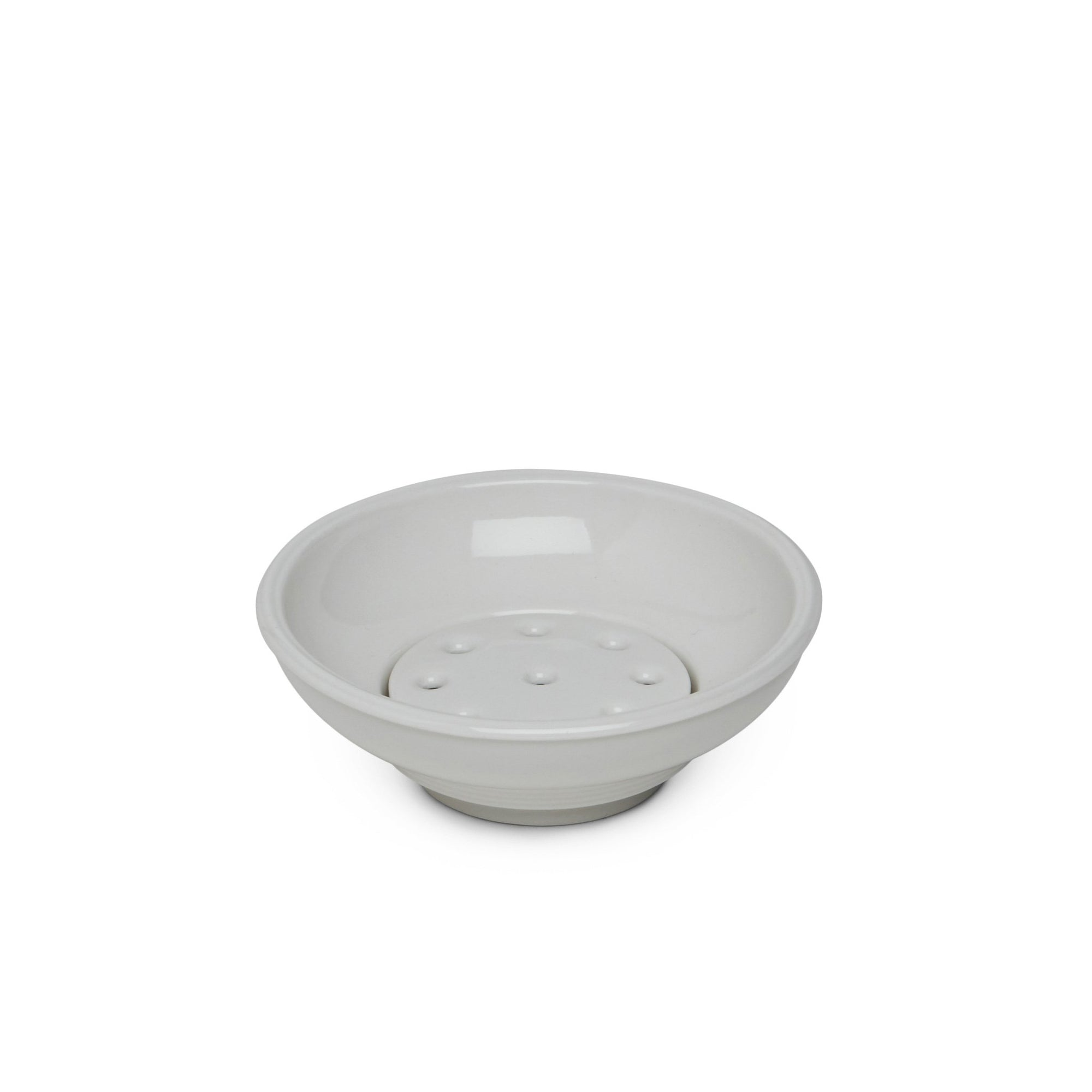 3399-WHT Sherle Wagner International Grey Ceramic Soap Dish in White