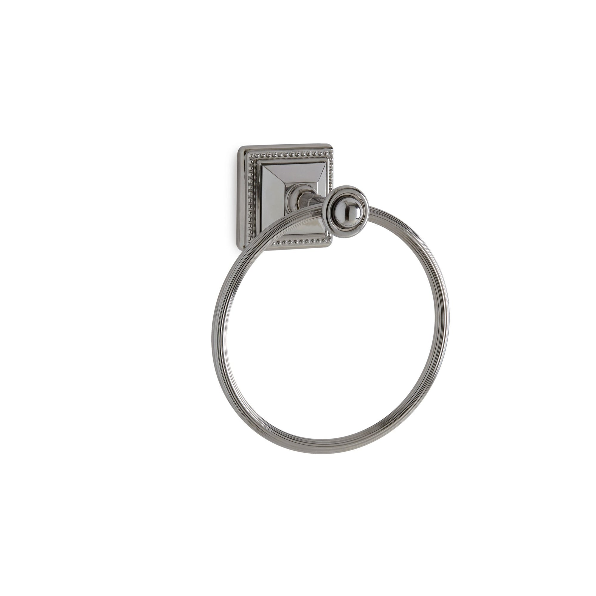 3401-MLIN-CP Sherle Wagner International Pyramid Towel Ring in Polished Chrome metal finish