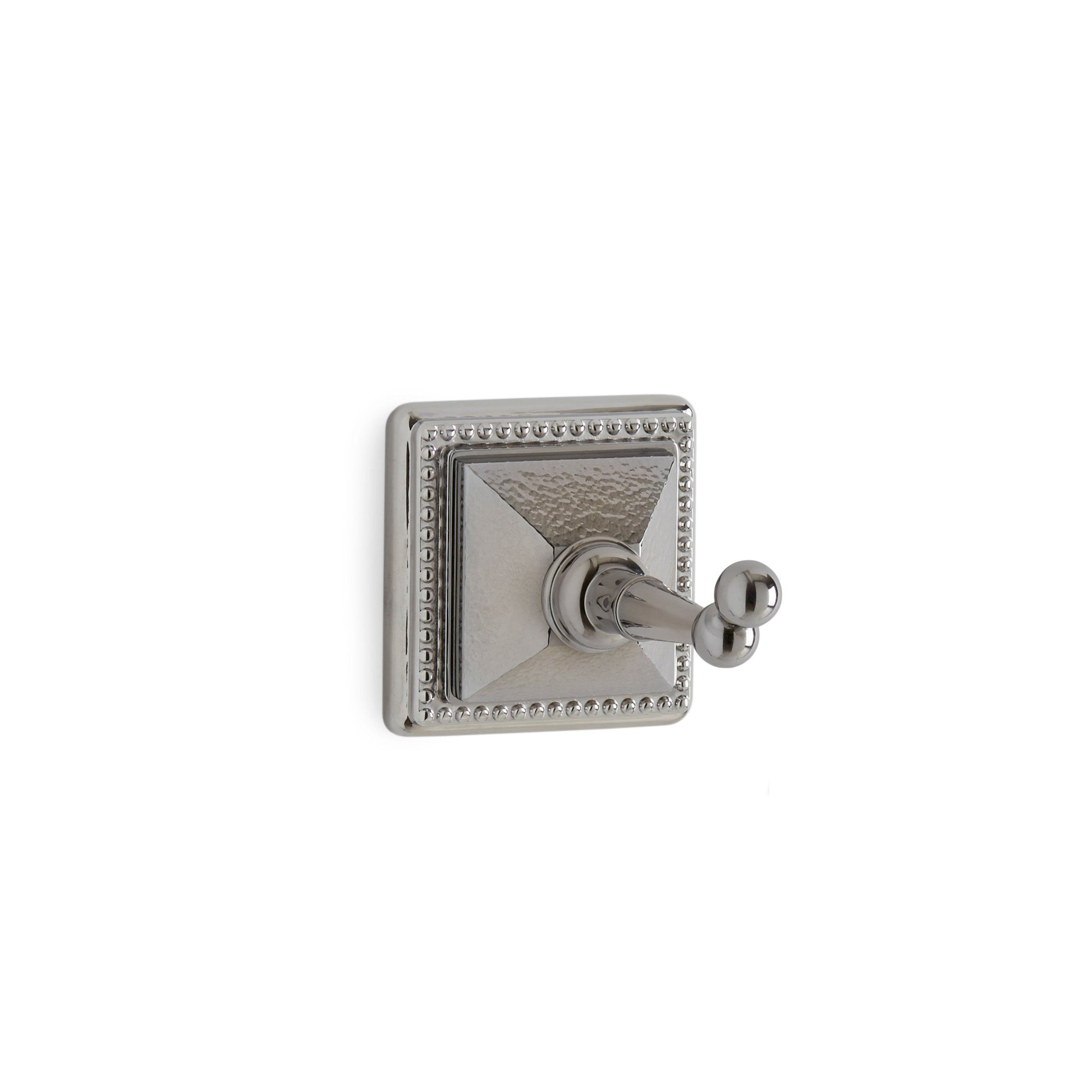 3402-HMRD-CP Sherle Wagner International Hammered Pyramid Hook in Polished Chrome metal finish