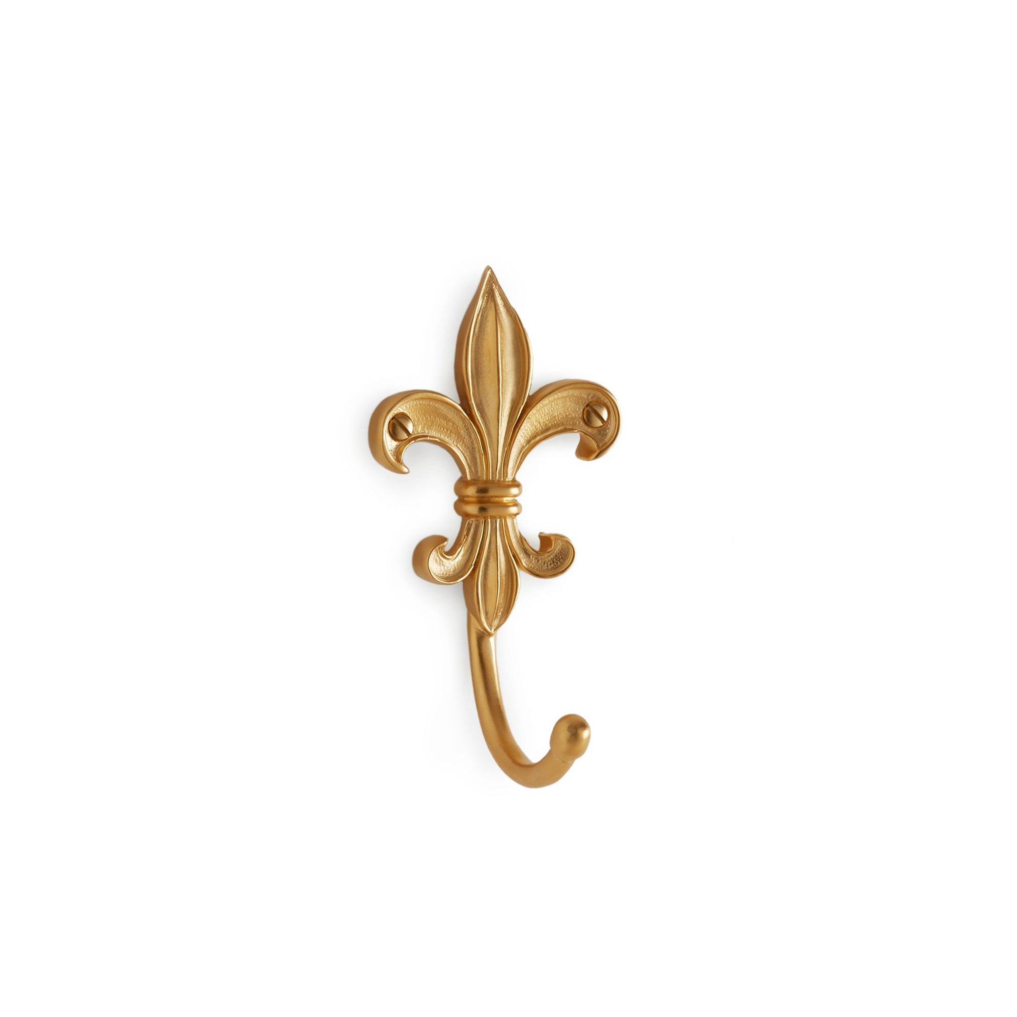 3407-GP Sherle Wagner International Fleur De Lis Hook in Gold Plate and Polished Chrome metal finish
