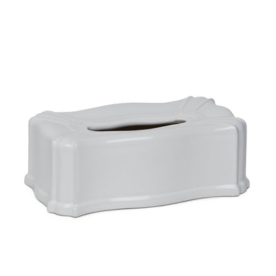 3413-WHT Sherle Wagner International Ceramic Elongated Tissue Box Cover