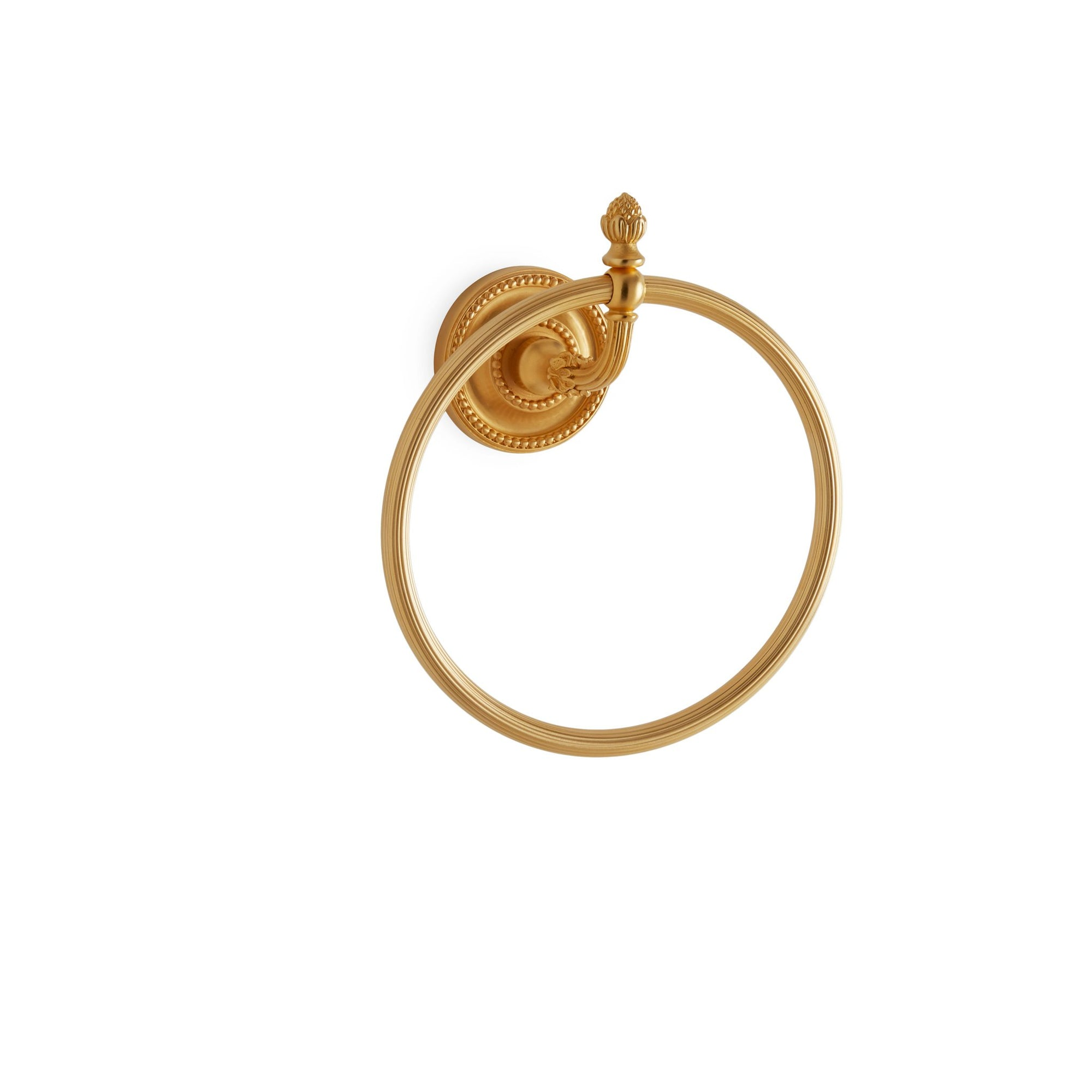 3415-GP Sherle Wagner International Classical Towel Ring in Gold Plate metal finish