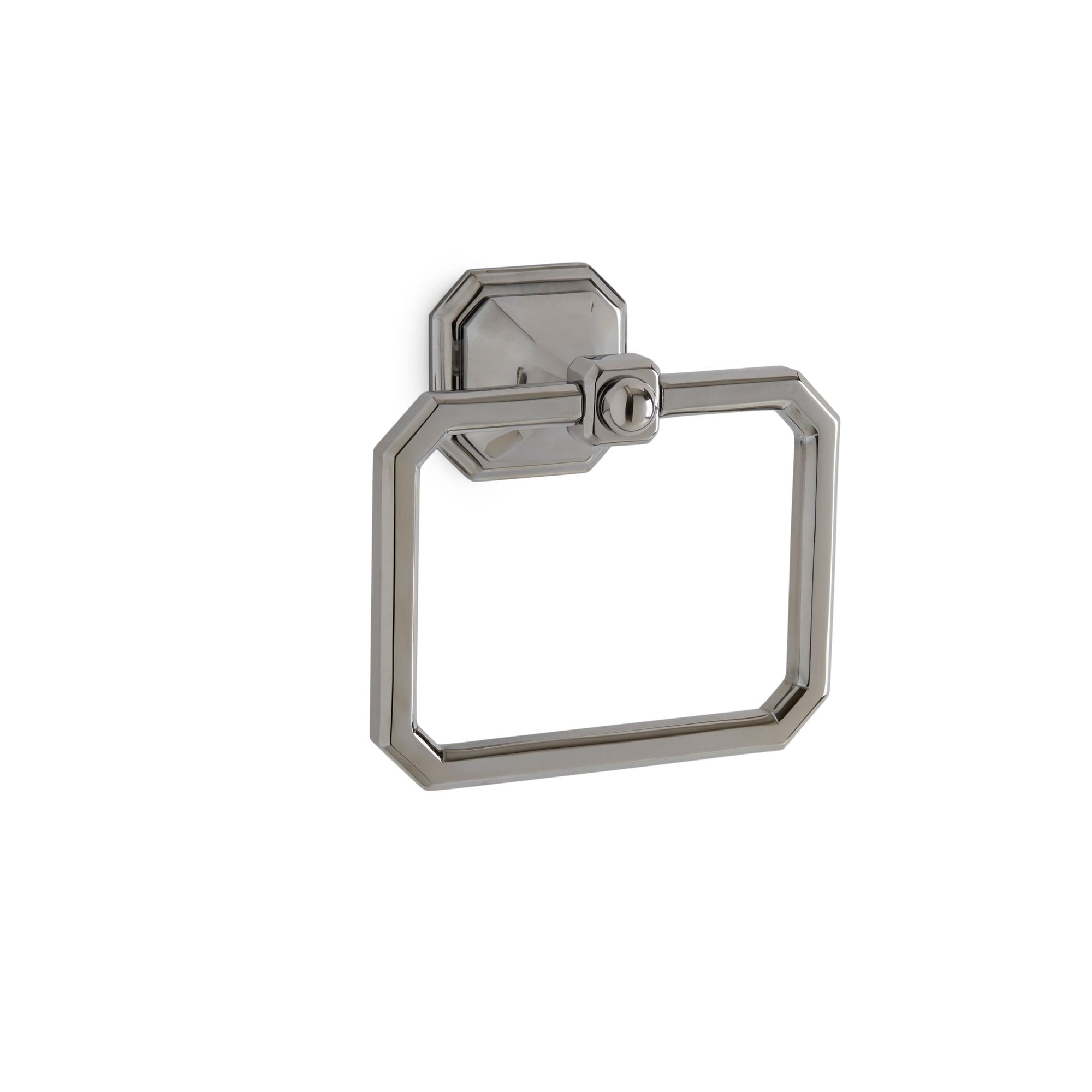 3418-CP Sherle Wagner International Harrison Crystal Towel Ring in Polished Chrome metal finish