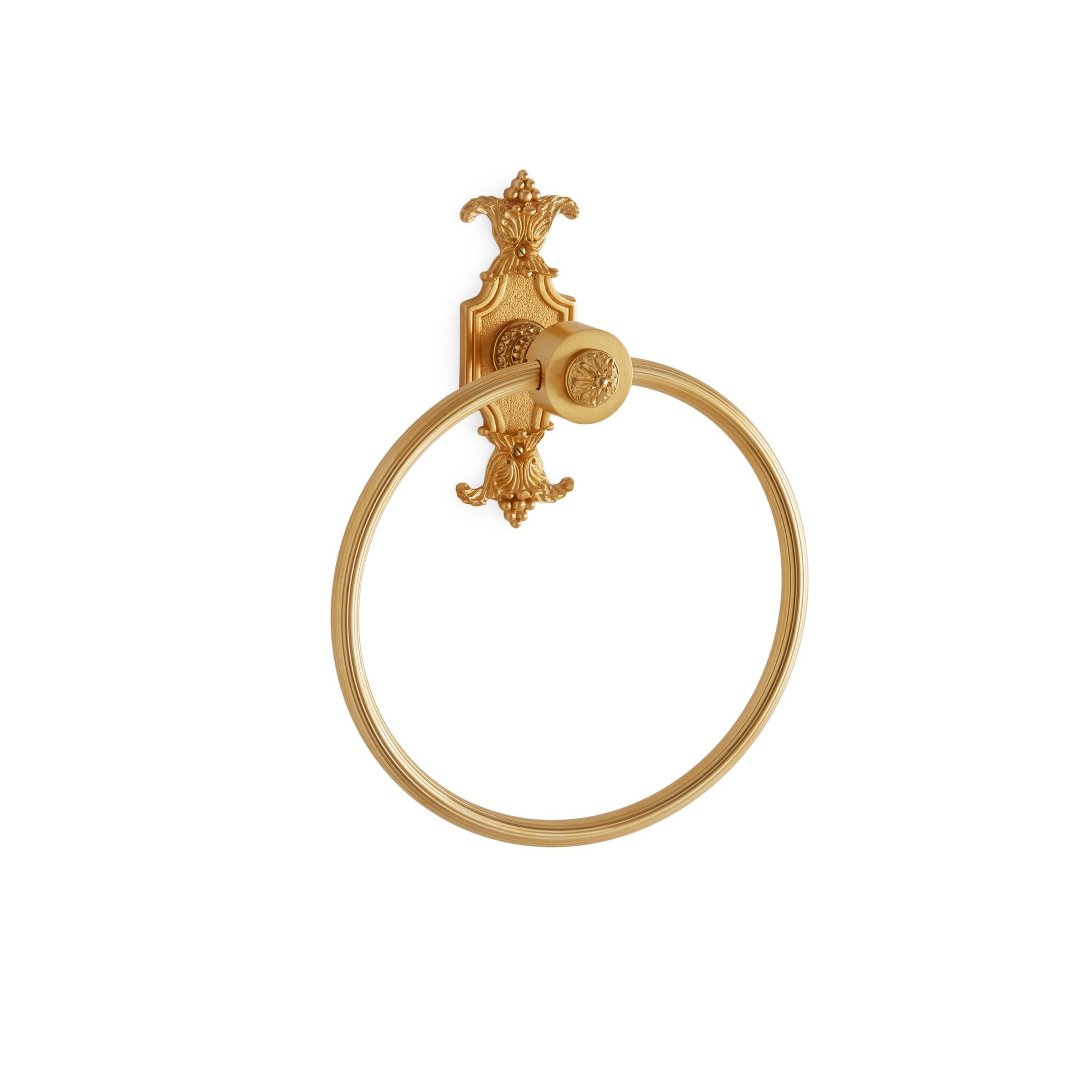 3428-GP Sherle Wagner International Louis XVI Towel Ring in Gold Plate metal finish
