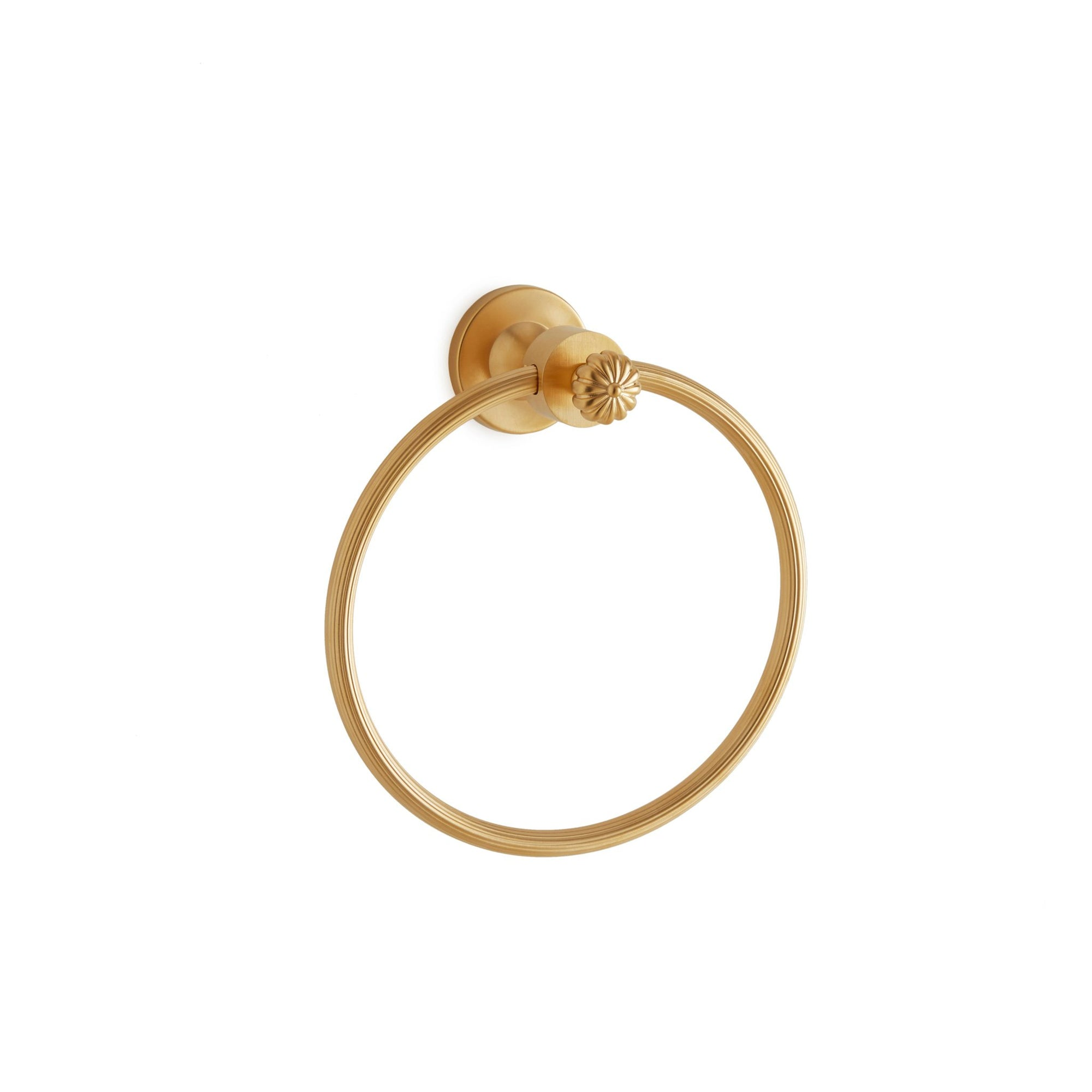 3429-GP Sherle Wagner International Melon Towel Ring in Gold Plate metal finish