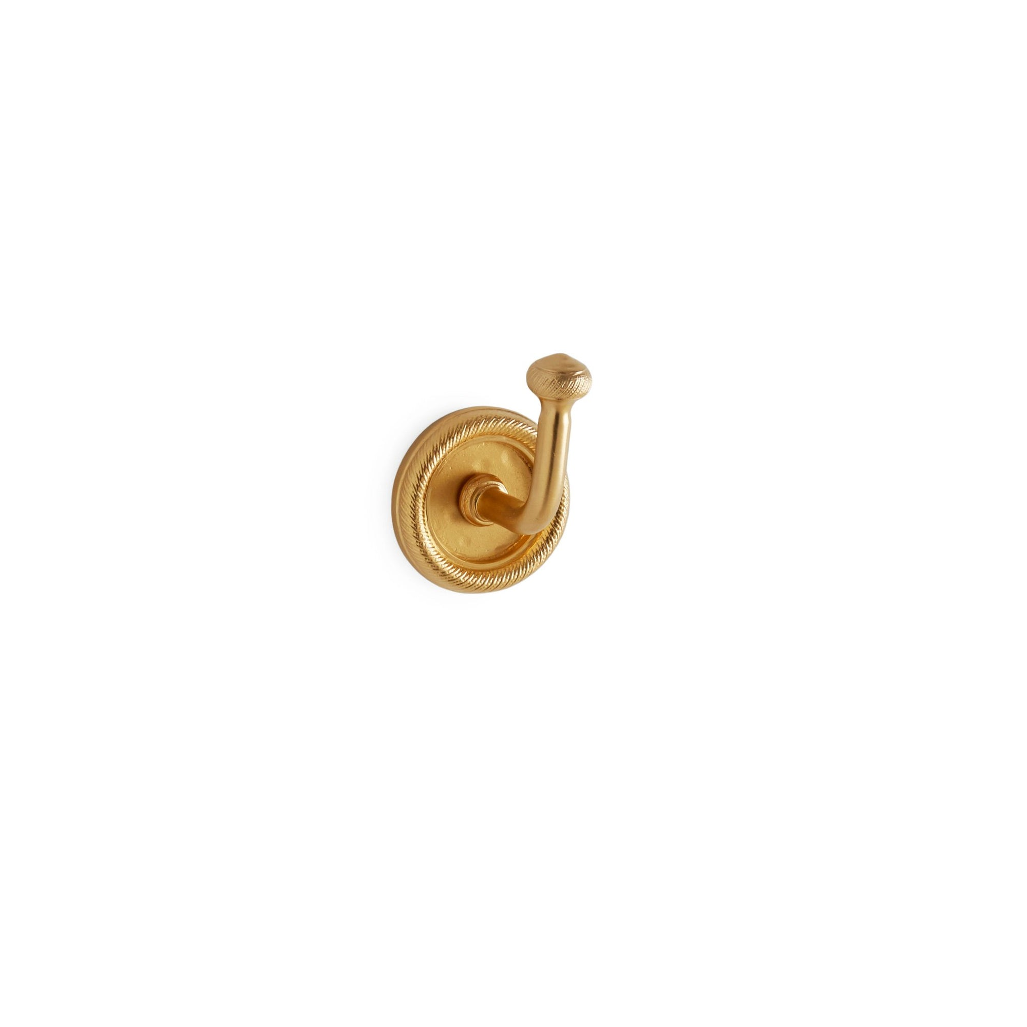 3437-GP Sherle Wagner International Classical Knurled Hook in Gold Plate metal finish