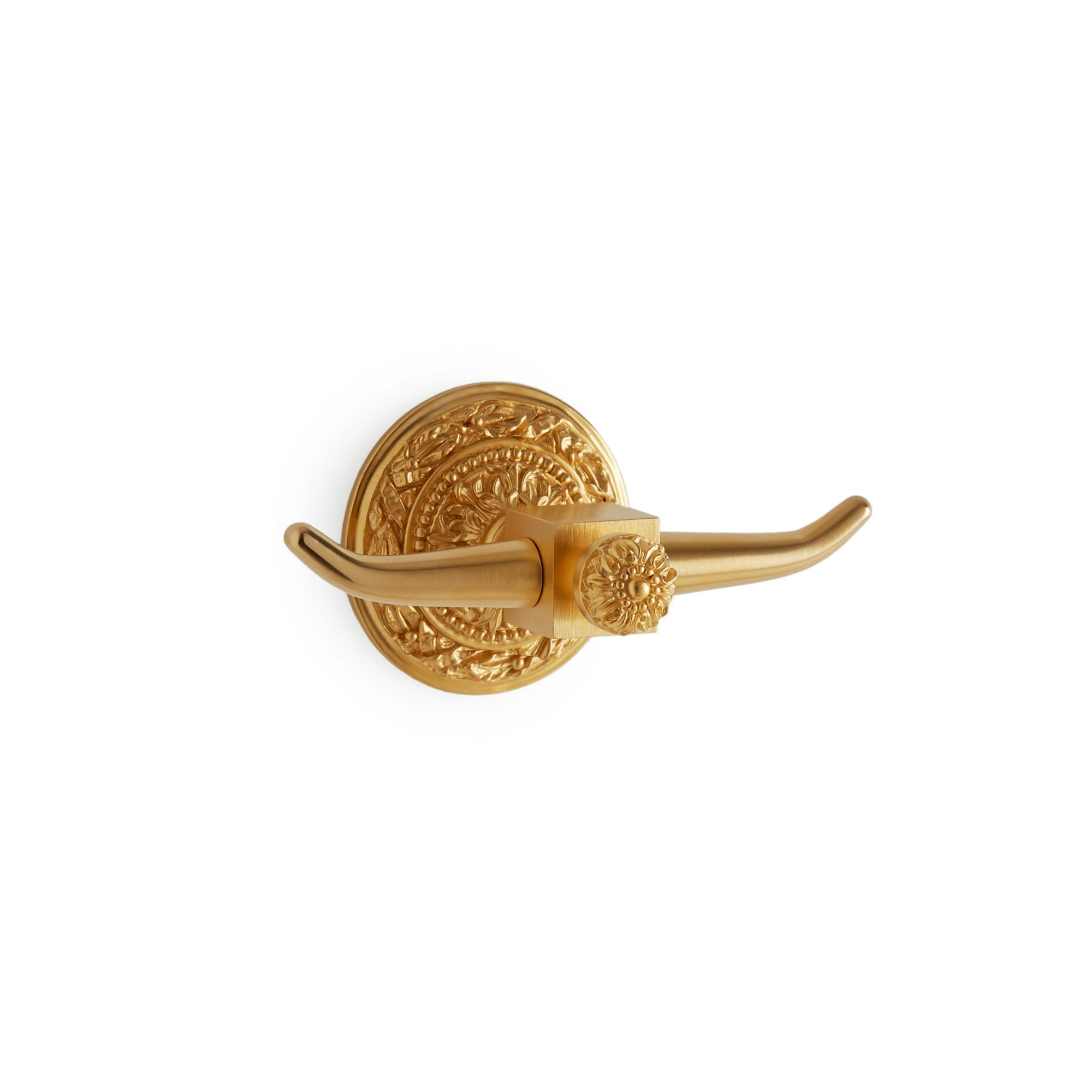 3441-GP Sherle Wagner International Acanthus Double Hook in Gold Plate metal finish