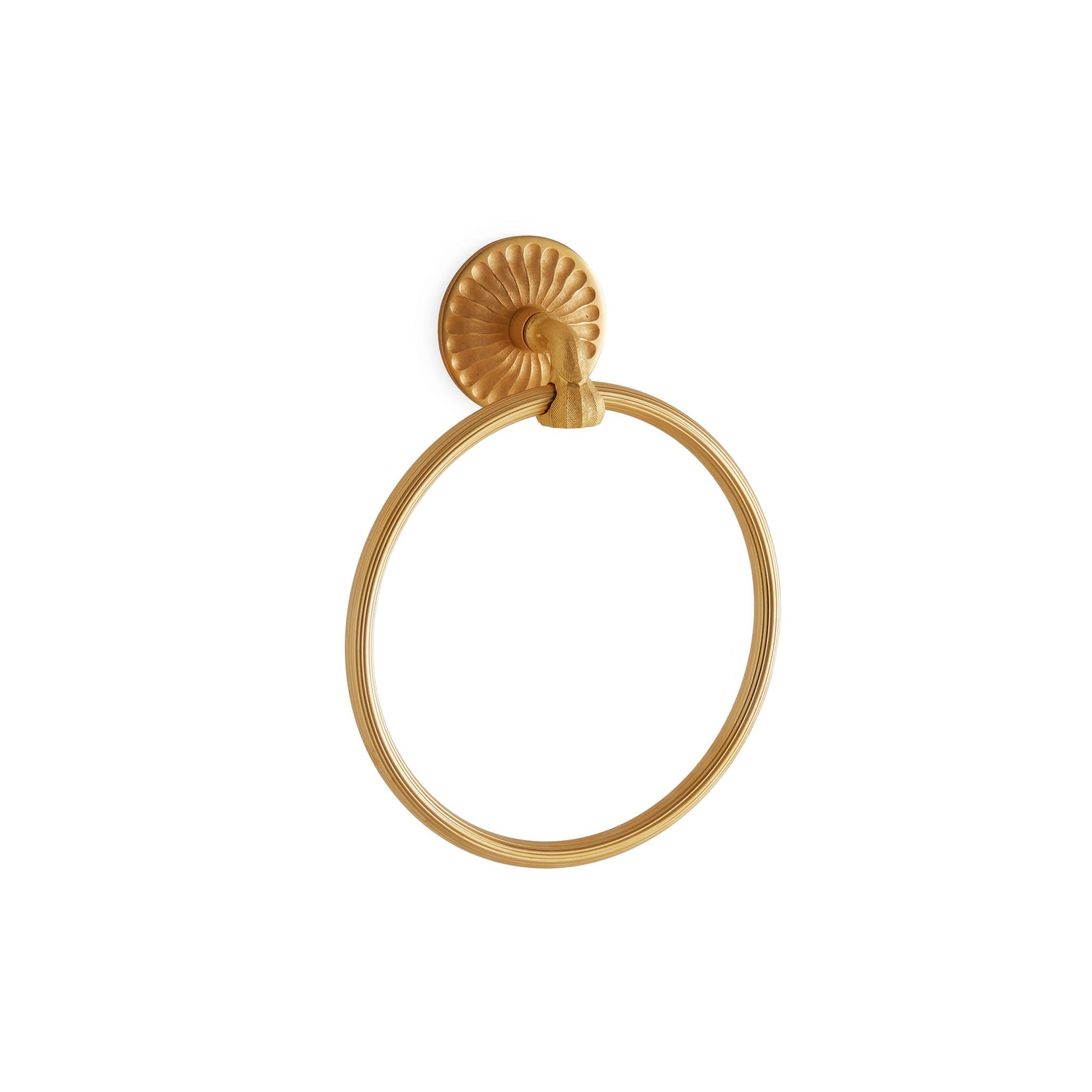 3445-GP Sherle Wagner International Scandia Towel Ring in Gold Plate metal finish
