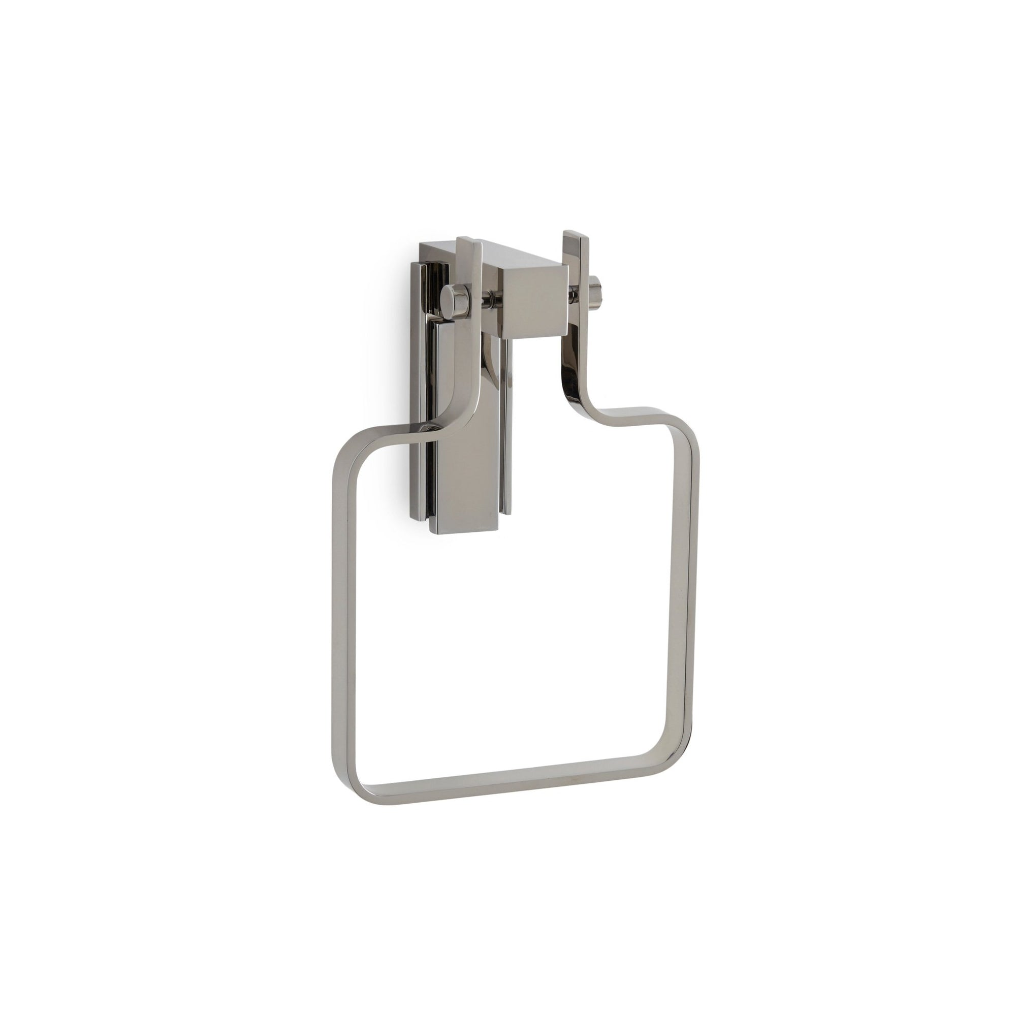 3456-MLIN-CP Sherle Wagner International Apollo Towel Ring with Metal insert in Polished Chrome metal finish