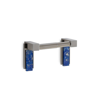 3457-DP-LAPI-CP Sherle Wagner International Apollo Double Post Paper Holder with Lapis Lazuli insert in Polished Chrome metal finish