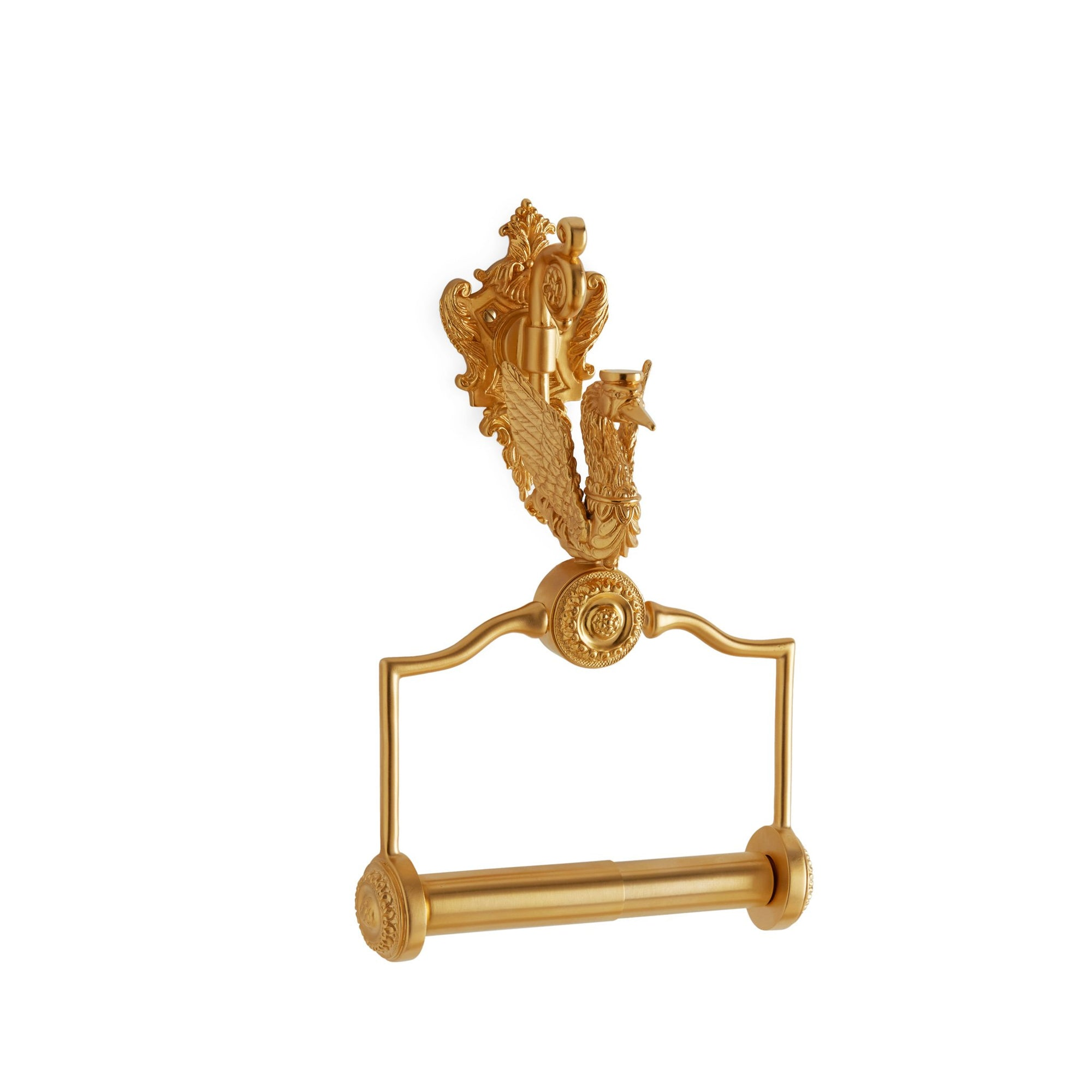 3511-GP Sherle Wagner International Swan Paper Holder in Gold Plate metal finish