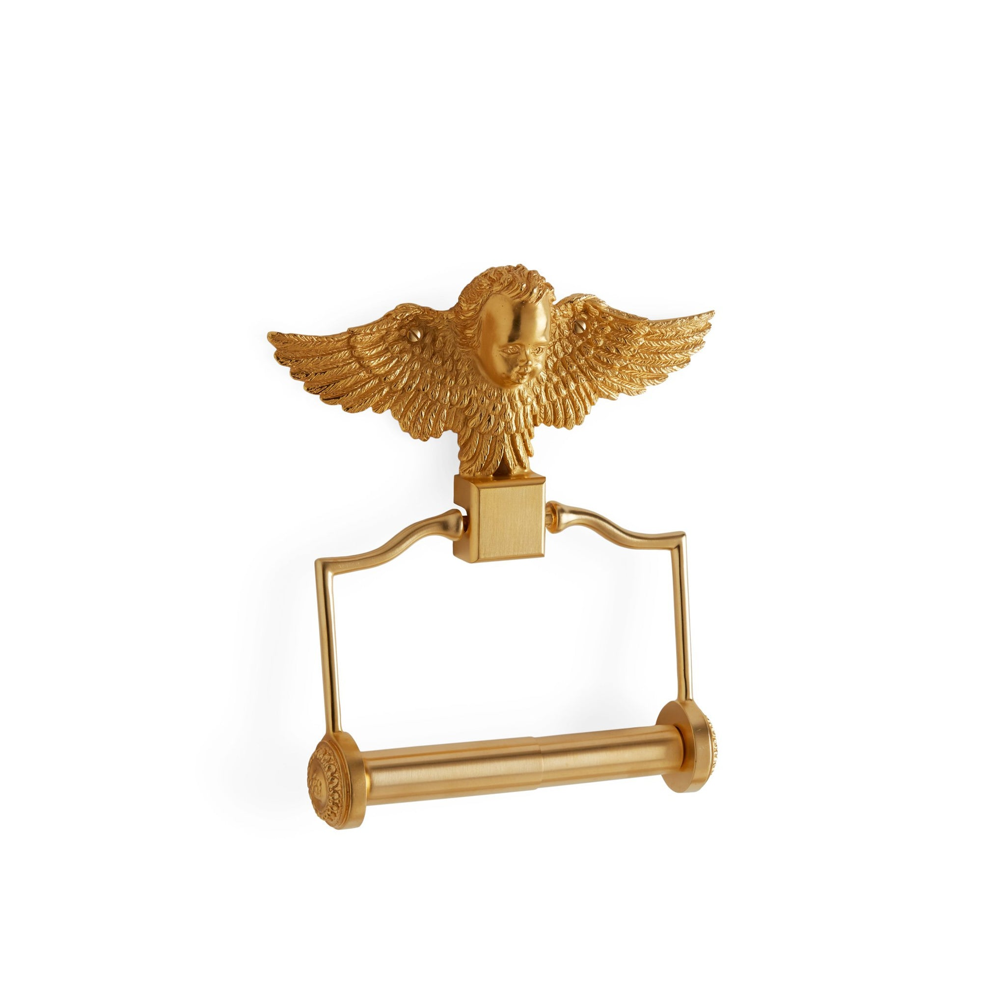 3530-GP Sherle Wagner International Cherub Paper Holder in Gold Plate metal finish