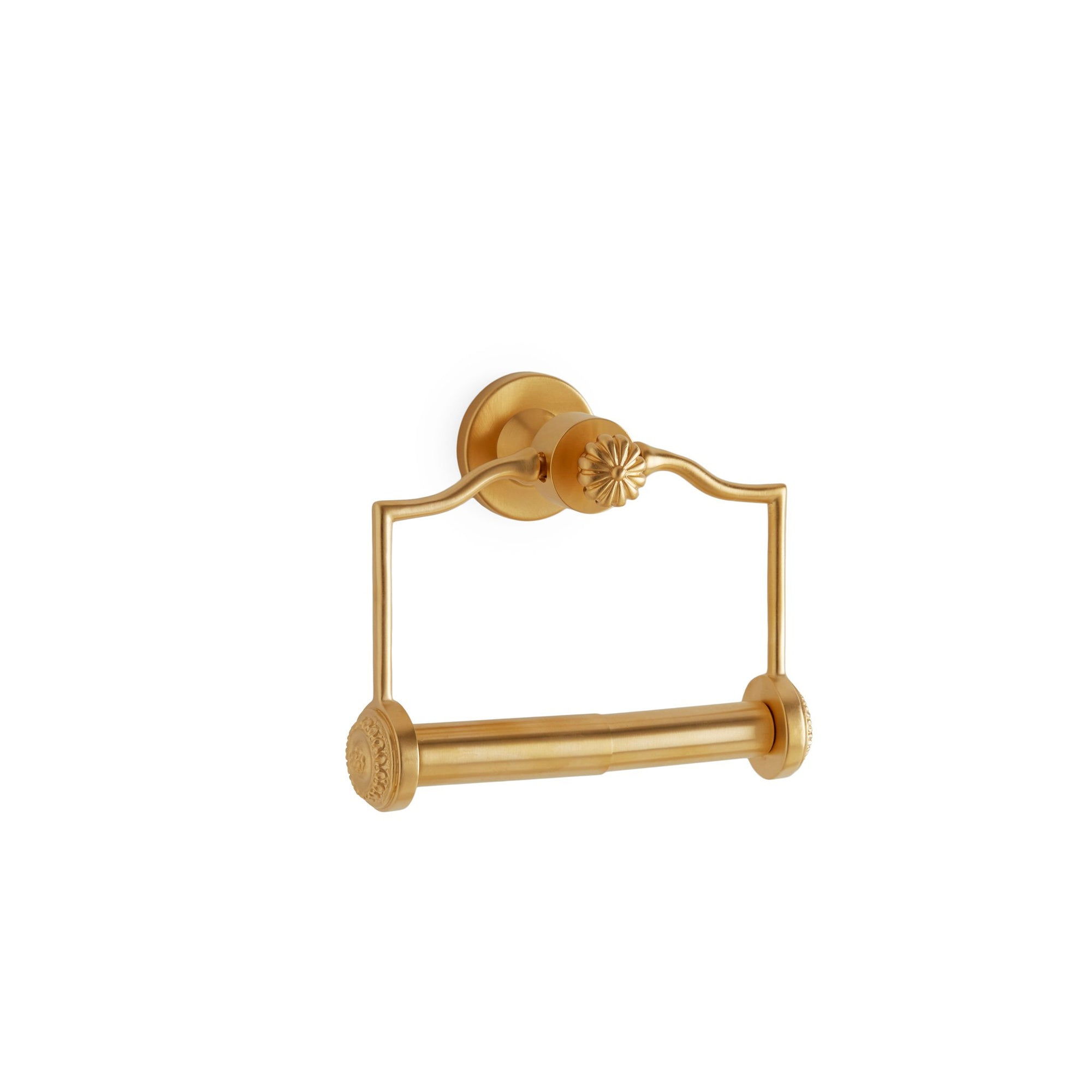 3532-GP Sherle Wagner International Melon Paper Holder in Gold Plate metal finish