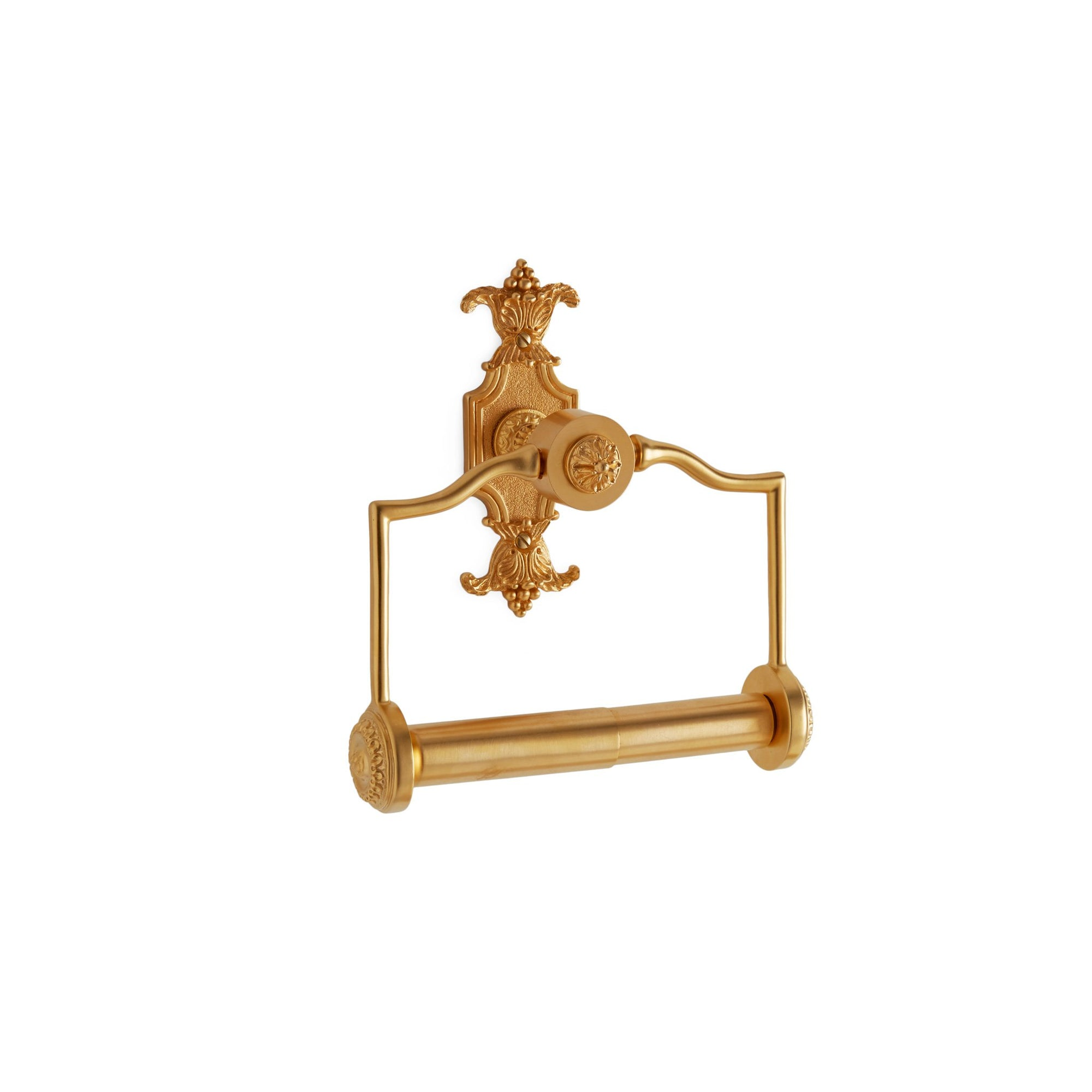 3533-GP Sherle Wagner International Louis XVI Paper Holder in Gold Plate metal finish