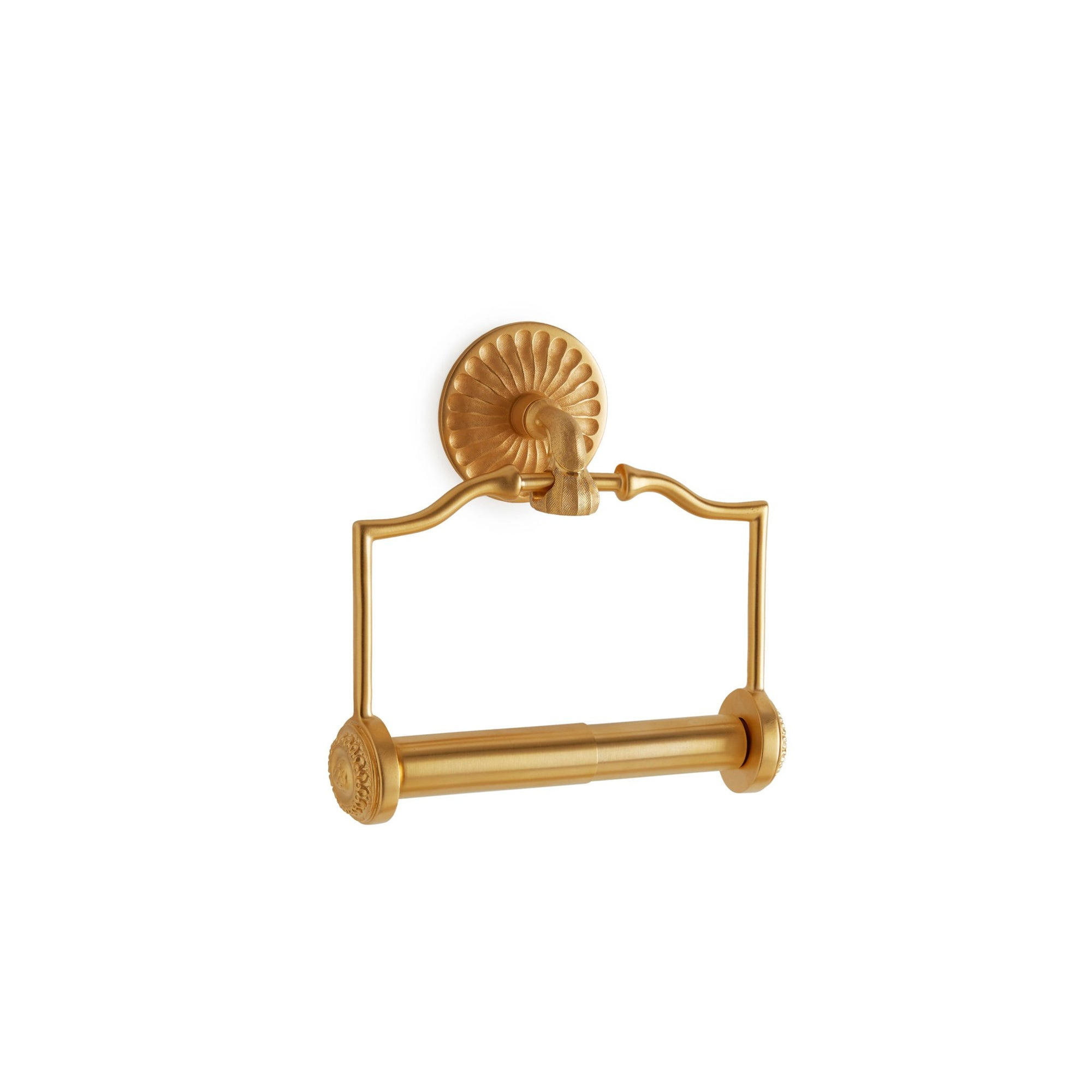 3542-GP Sherle Wagner International Scandia Paper Holder in Gold Plate metal finish