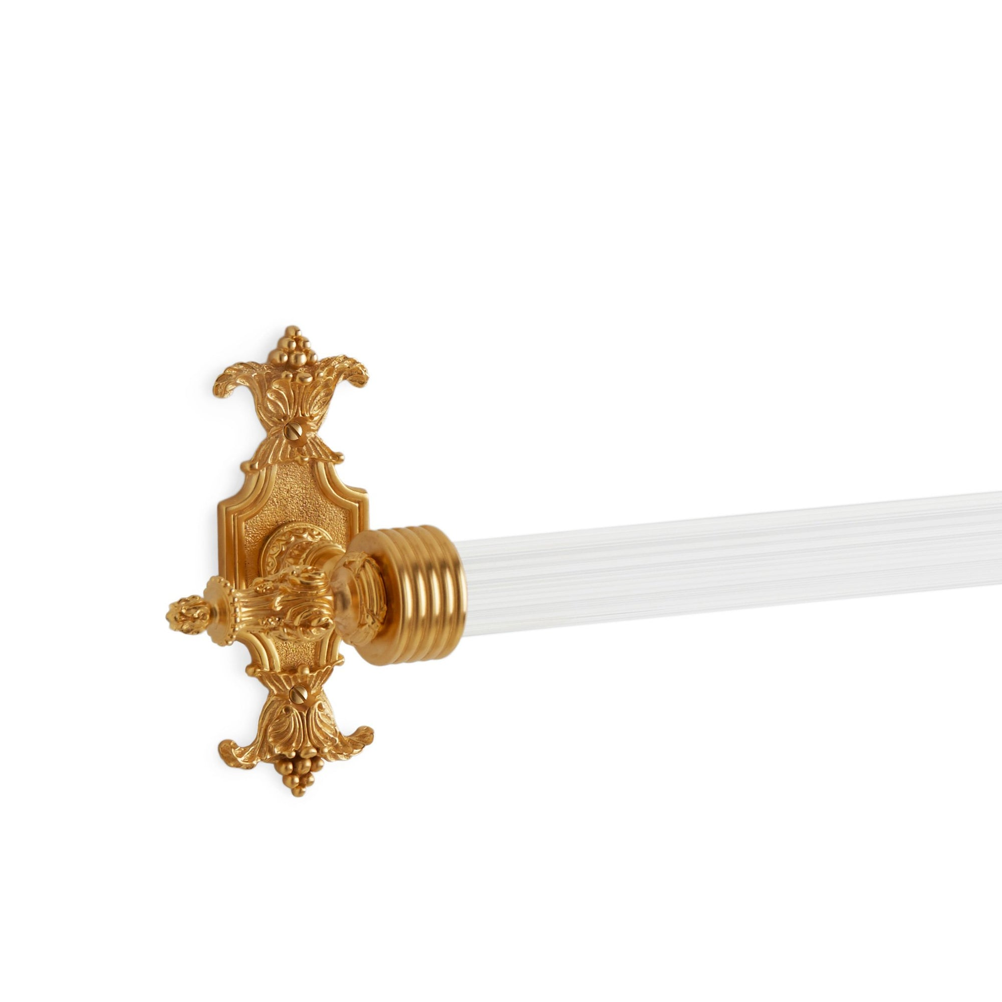 3660-30FL-GP Sherle Wagner International Louis XVI Towel Bar in Gold Plate metal finish