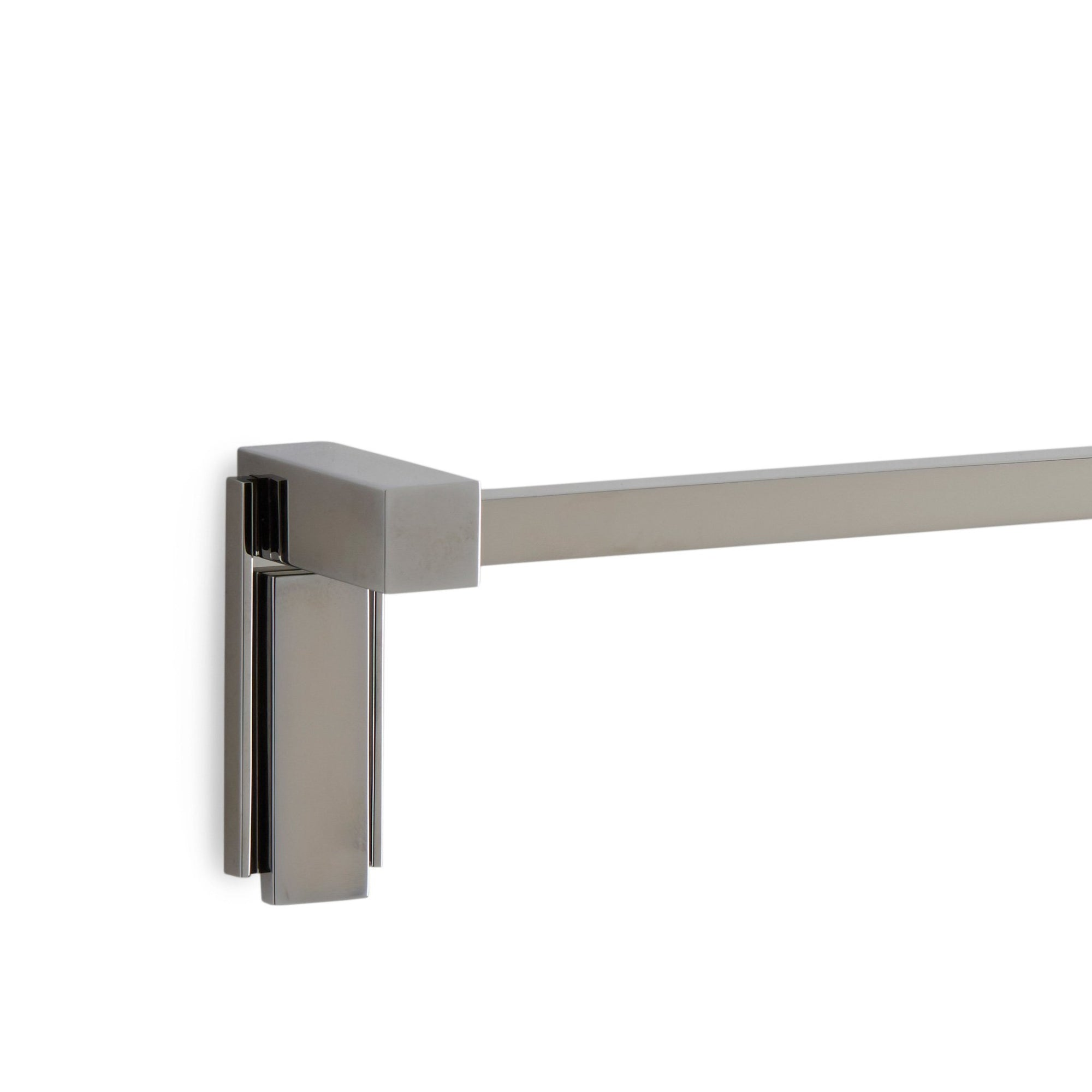 3678-MLIN-30SQ-CP Sherle Wagner International Apollo Towel Bar with Metal insert in Polished Chrome metal finish