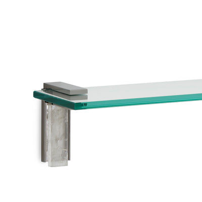 3678S-RKCR-30-CP Sherle Wagner International Apollo Shelf with Rock Crystal insert in Polished Chrome metal finish