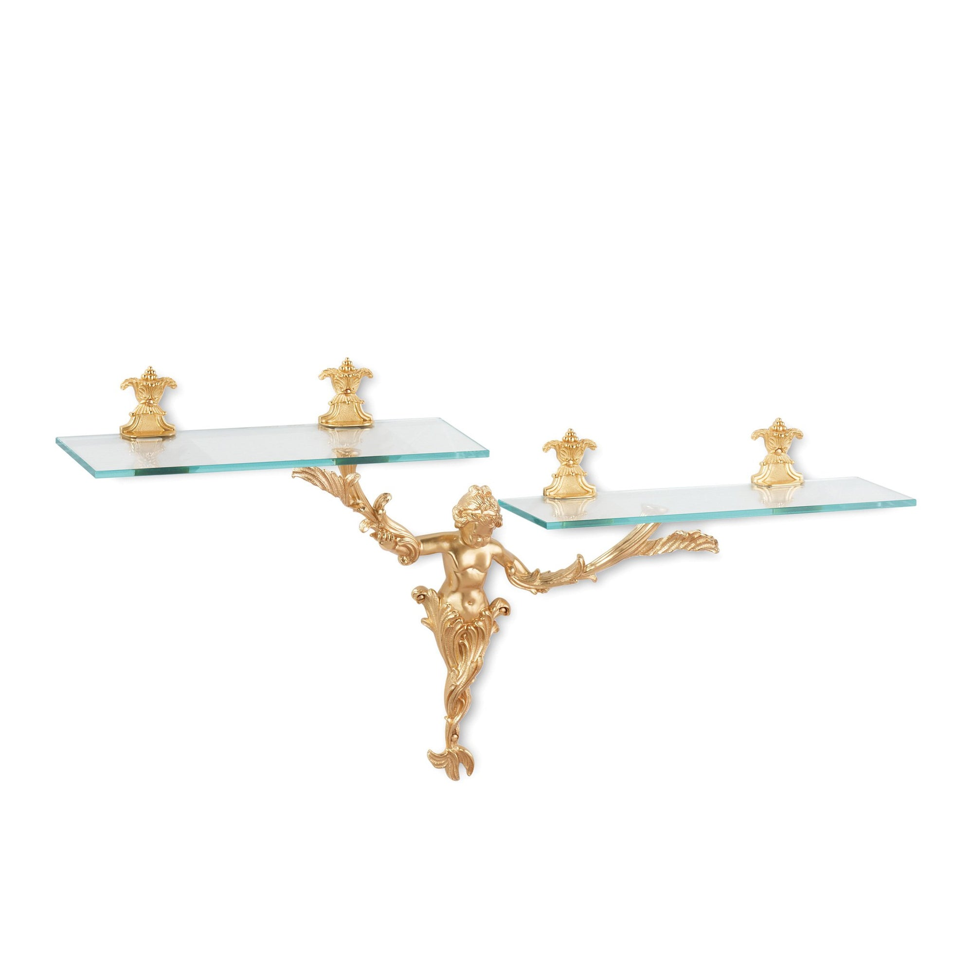 3685S-GP Sherle Wagner International Water Nymph Shelf in Gold Plate metal finish
