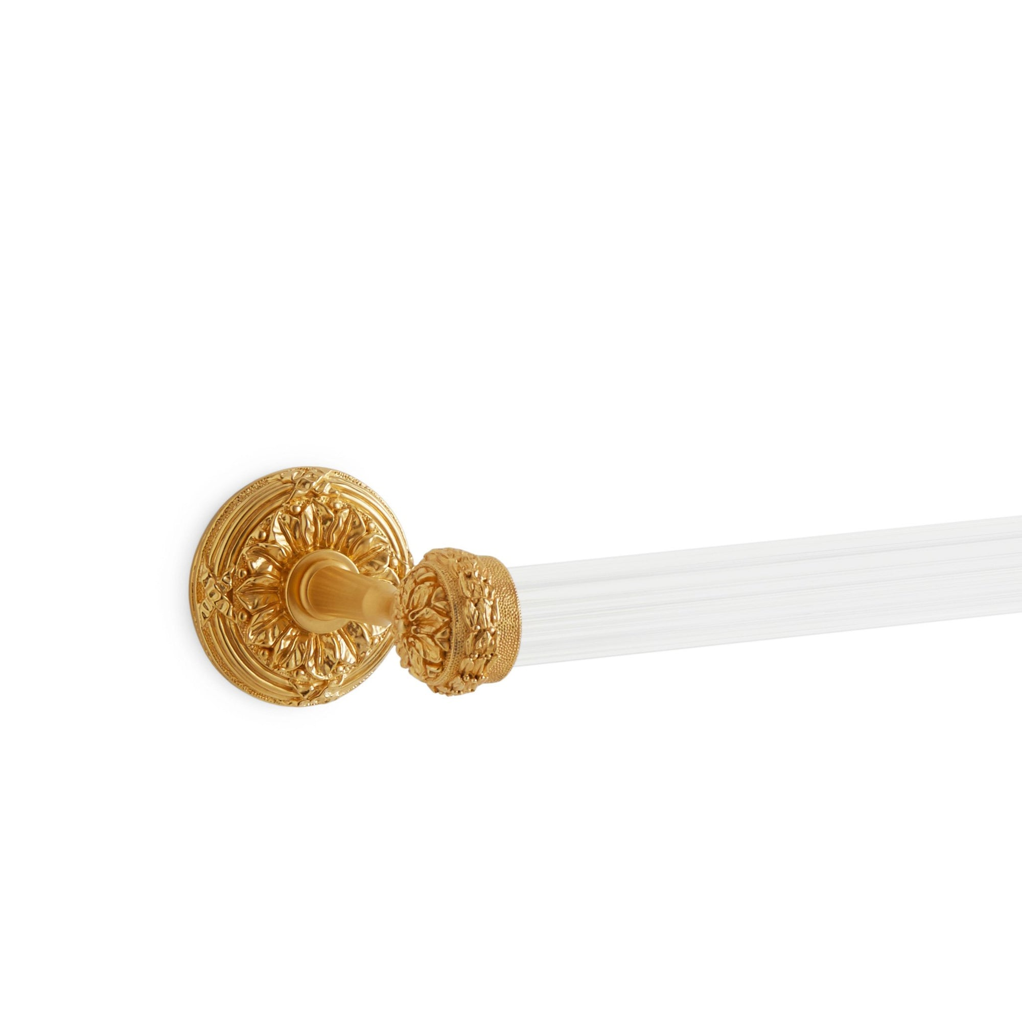 3686-30FL-GP Sherle Wagner International Ribbon & Reed Towel Bar in Gold Plate metal finish