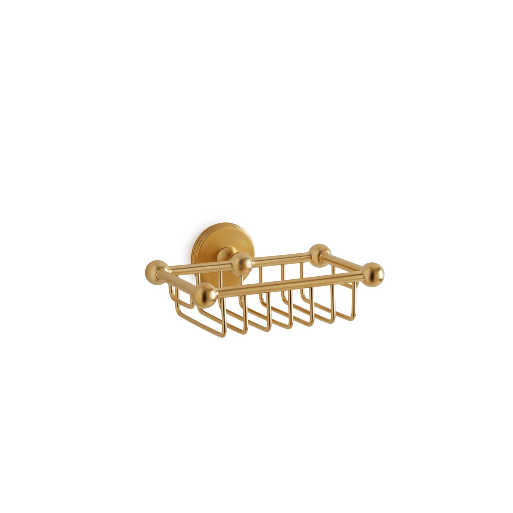 3804-GP Sherle Wagner International Wall Mounted Soap Basket in Gold Plate metal finish