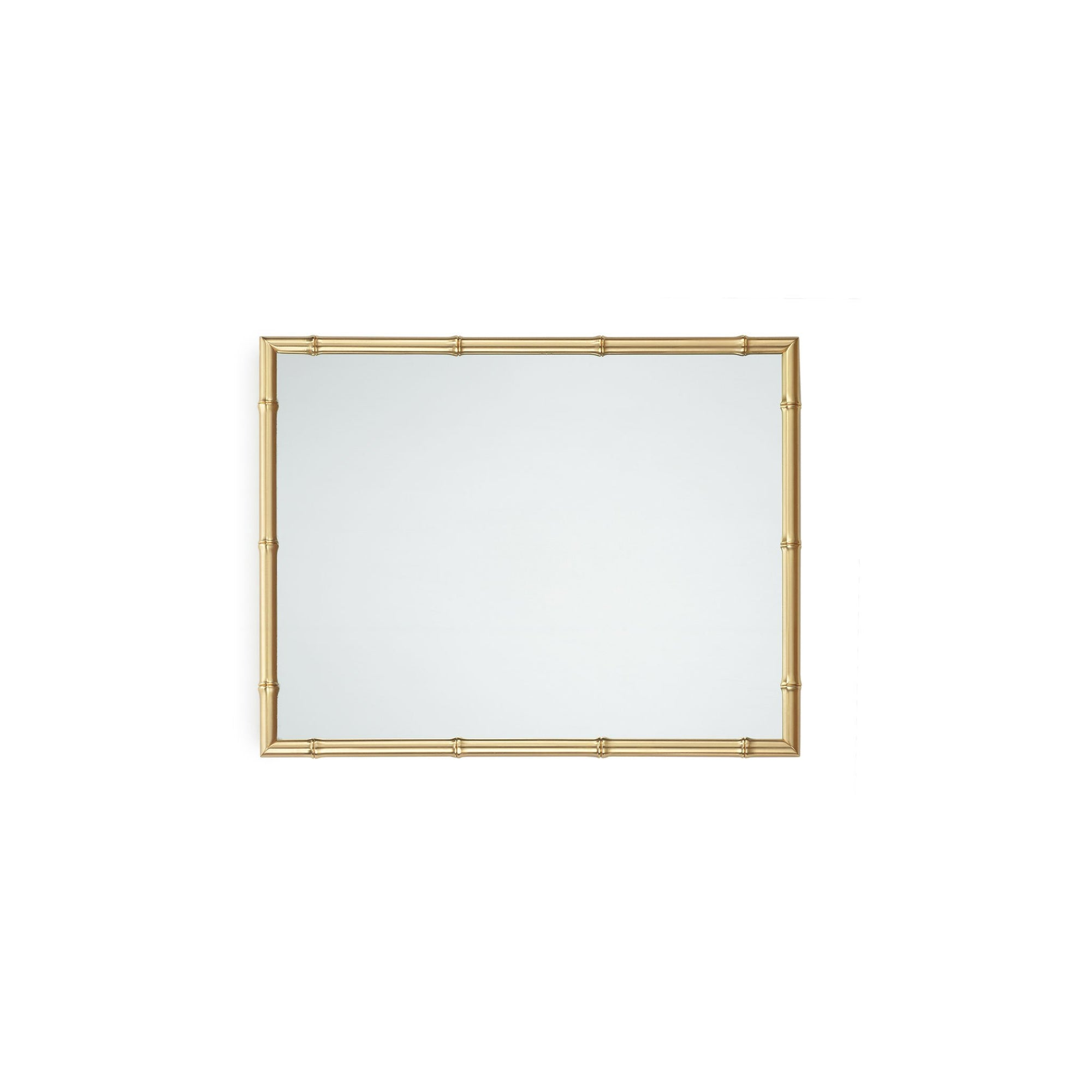 4251M21-GP Sherle Wagner International Bamboo Mirror in Gold Plate metal finish