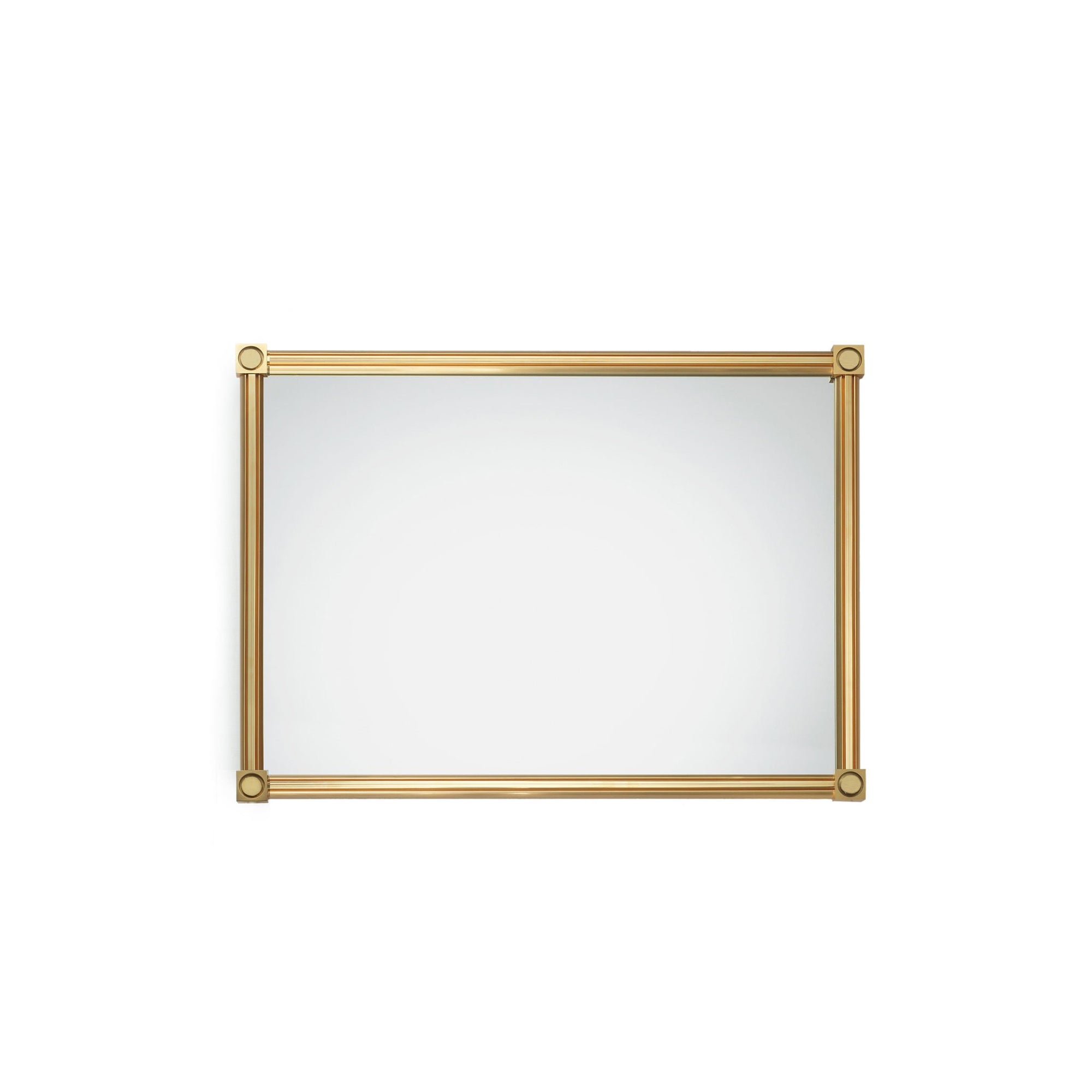 4269M21-GP Sherle Wagner International Modern Mirror in Gold Plate metal finish