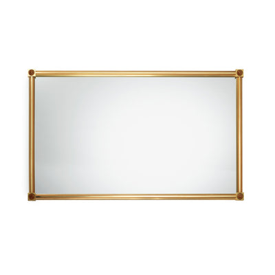4269M32-BROX-GP Sherle Wagner International Modern Mirror with Brown Onyx insert in Gold Plate metal finish