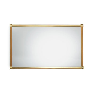 4269M32-GP Sherle Wagner International Modern Mirror in Gold Plate metal finish