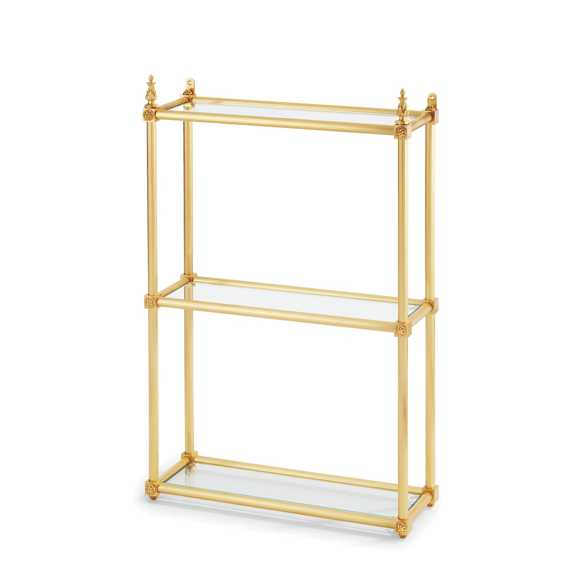 4691-GP Sherle Wagner International Louis XVI 3-Tier Shelf in Gold Plate metal finish