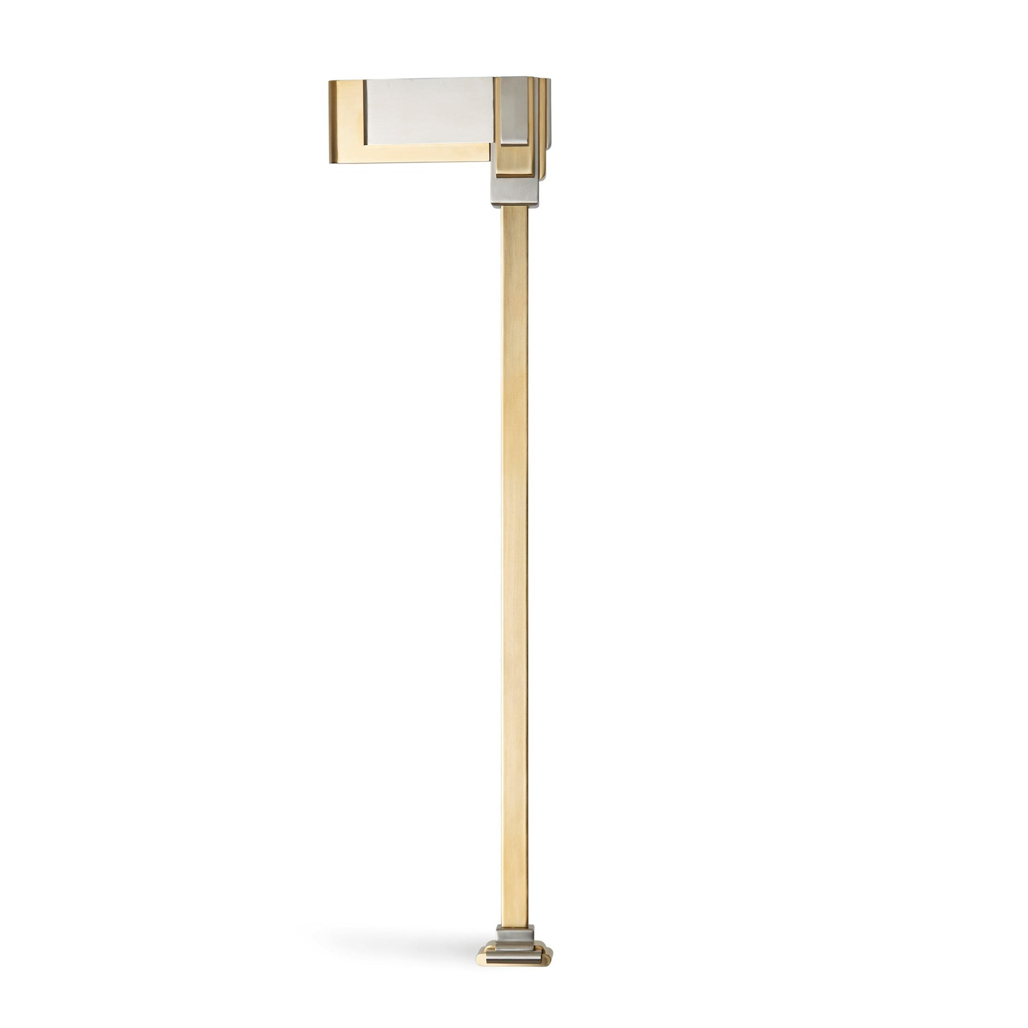 4764-GP_BN Sherle Wagner International Nouveau Leg in Gold Plate and Brushed Nickel metal finish