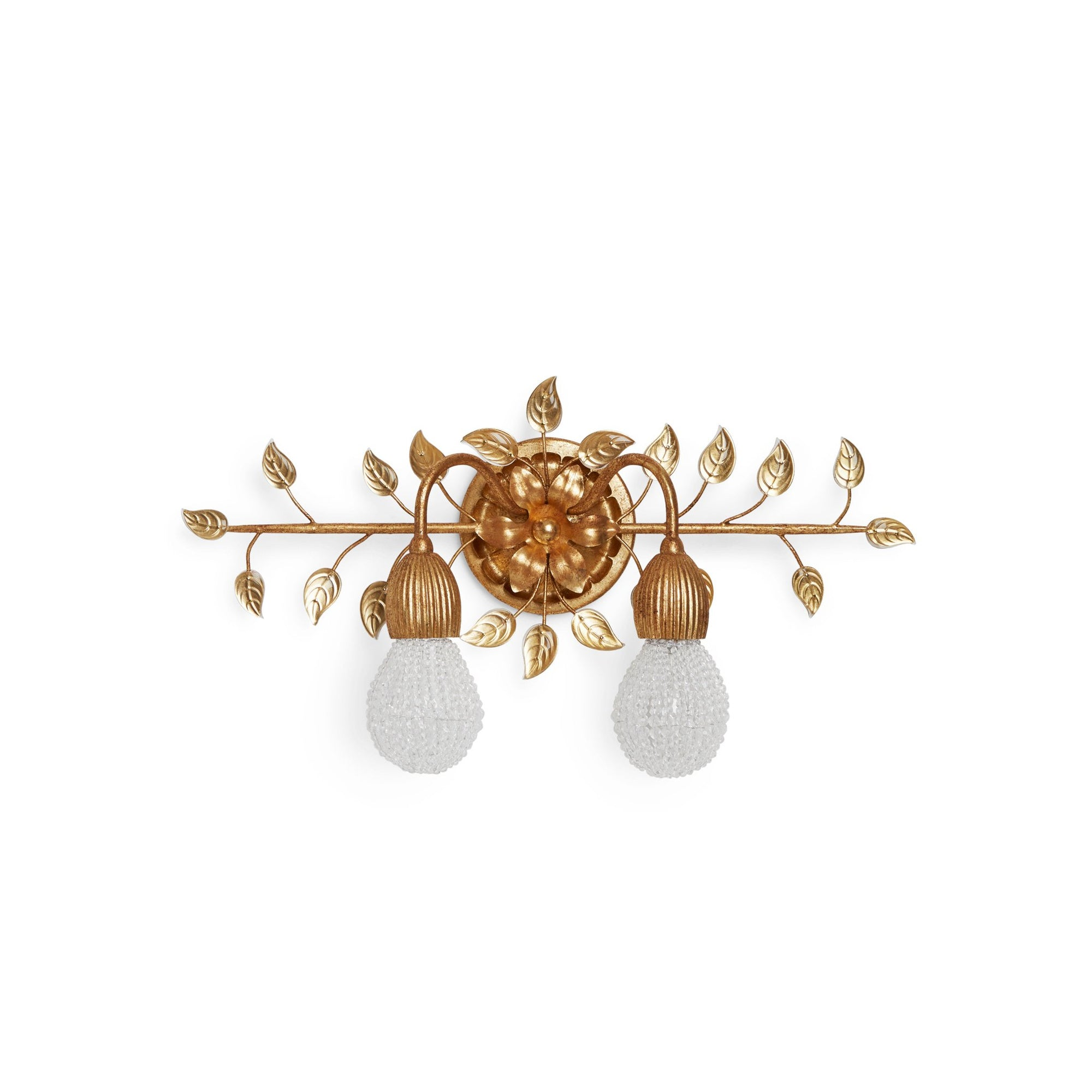 7116-G Sherle Wagner International Double Tulip Light in Florentine Gold