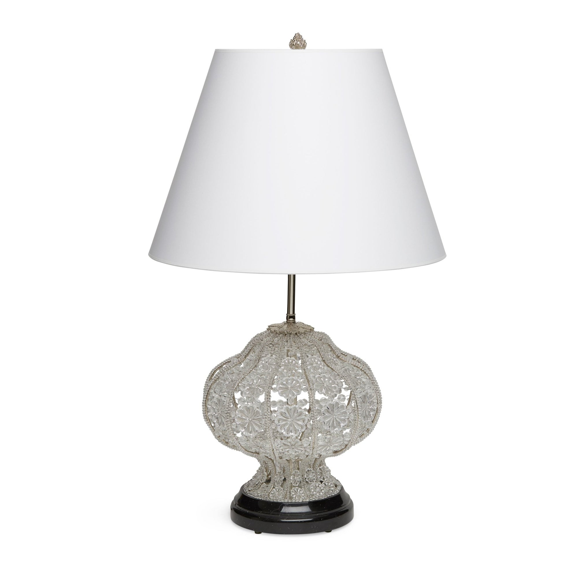 7123-TBLE-NEMA-PN Sherle Wagner International Crystal Table Lamp Small in Malachite