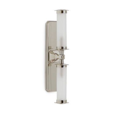 7280SC-13-2AFG-PN Sherle Wagner International Harrison Double Arm Sconce with Frosted Tube in Gold Plate metal finish