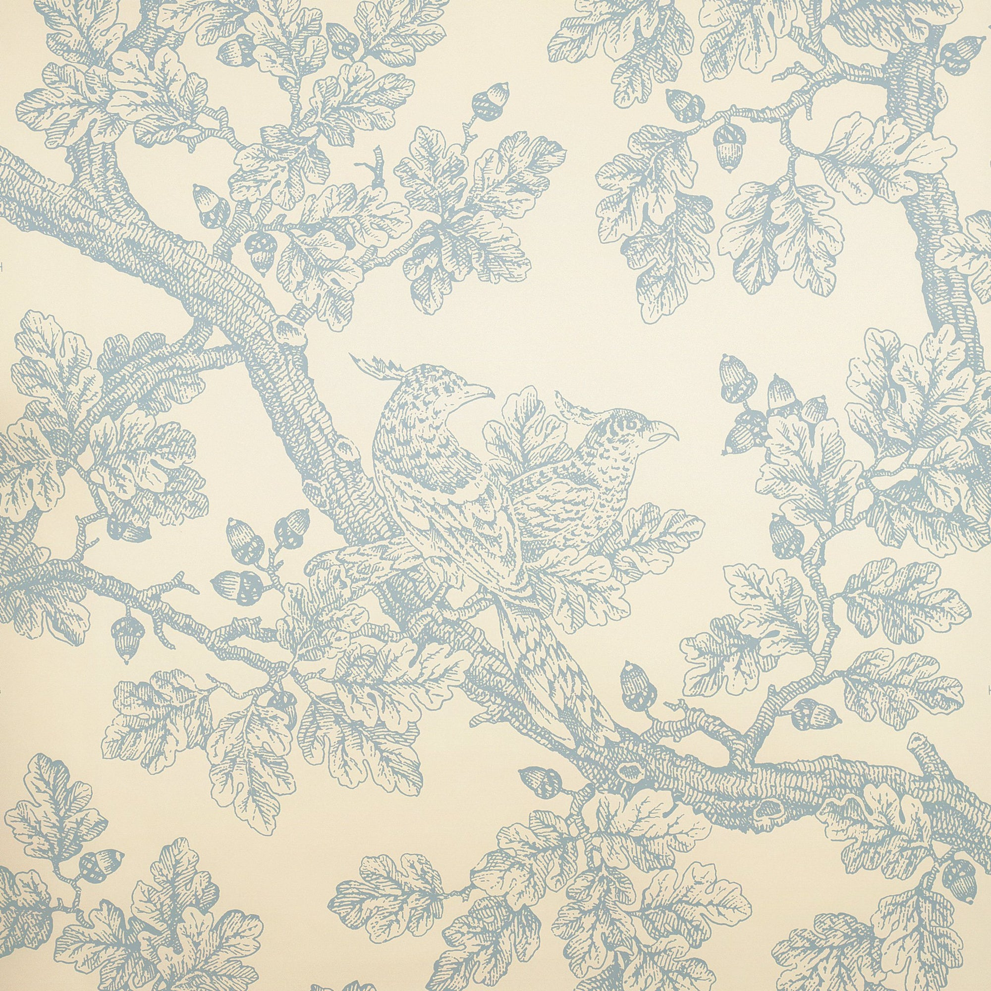 Acorn & Oak Leaf Toile Wallpaper