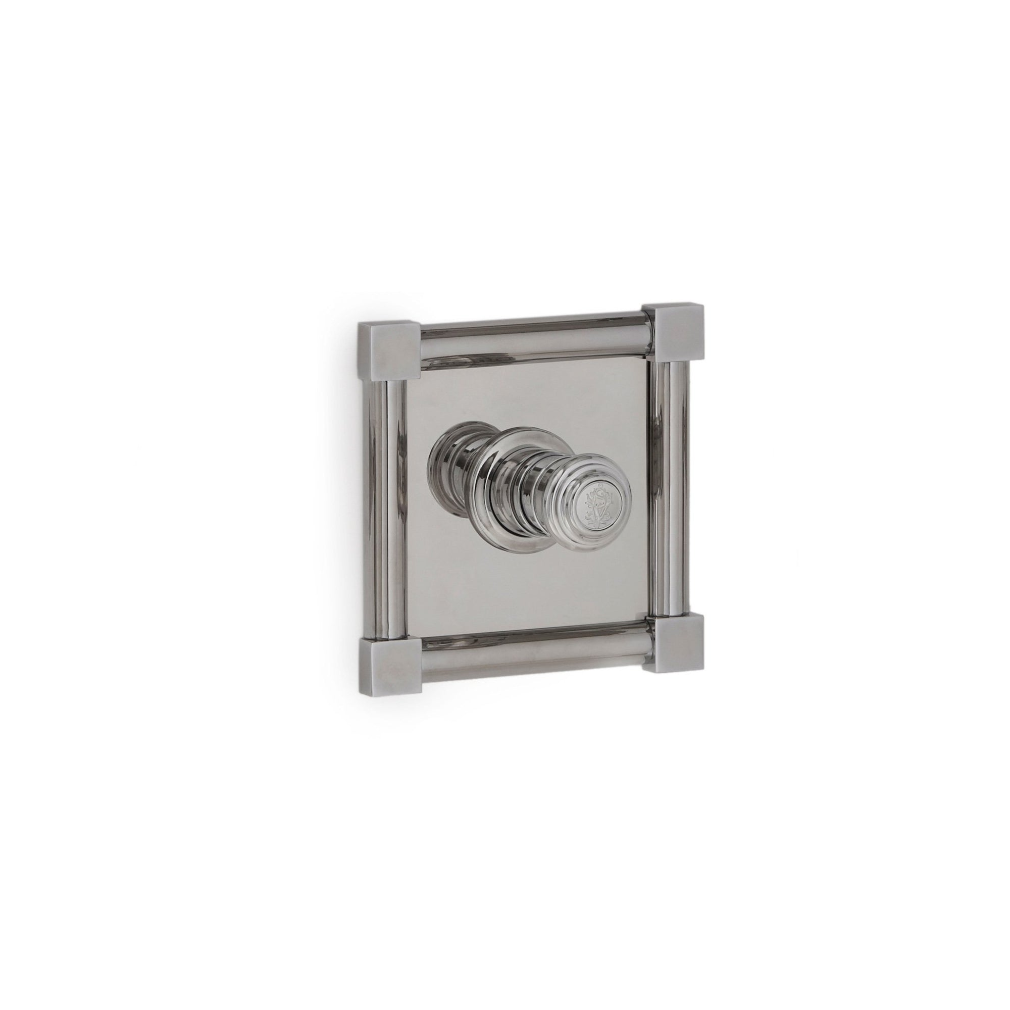 TMO01PL-LOGO-CP Sherle Wagner International Square Knuckle High Flow Thermostatic Trim in Polished Chrome metal finish