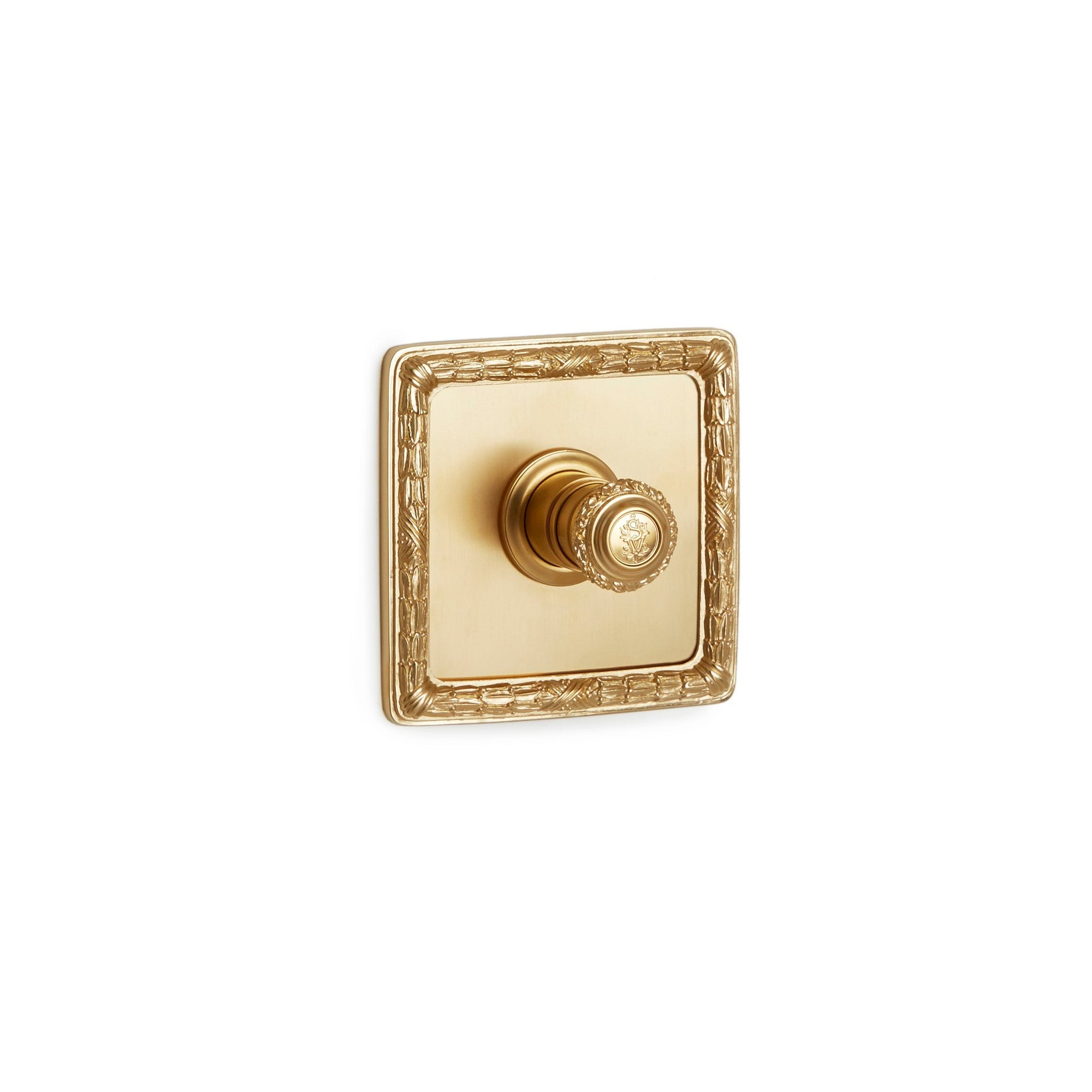 TMO02AC-LOGO-GP Sherle Wagner International Acanthus High Flow Thermostatic Trim in Gold Plate metal finish