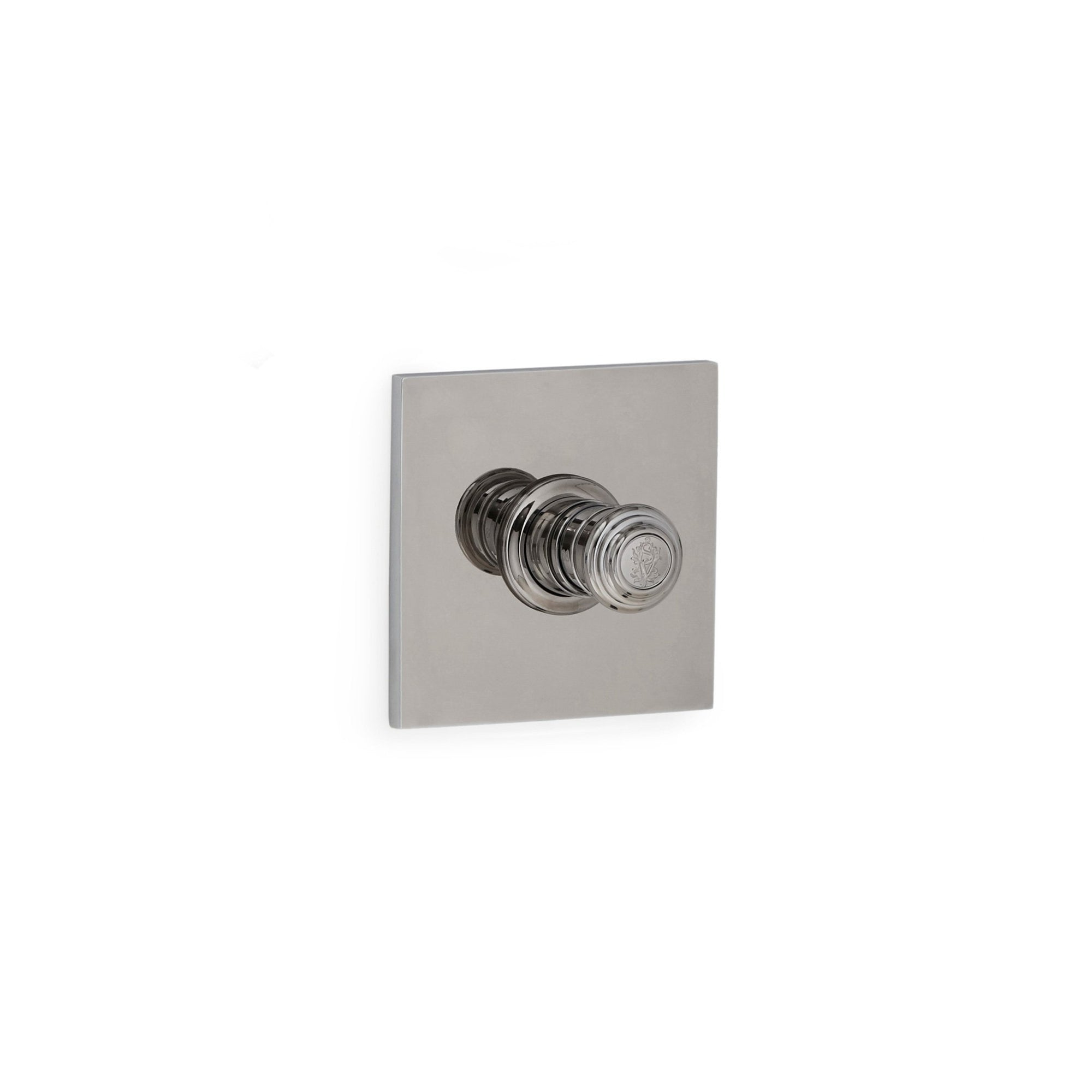 TMO09PL-LOGO-CP Sherle Wagner International Modern Square High Flow Thermostatic Trim in Polished Chrome metal finish