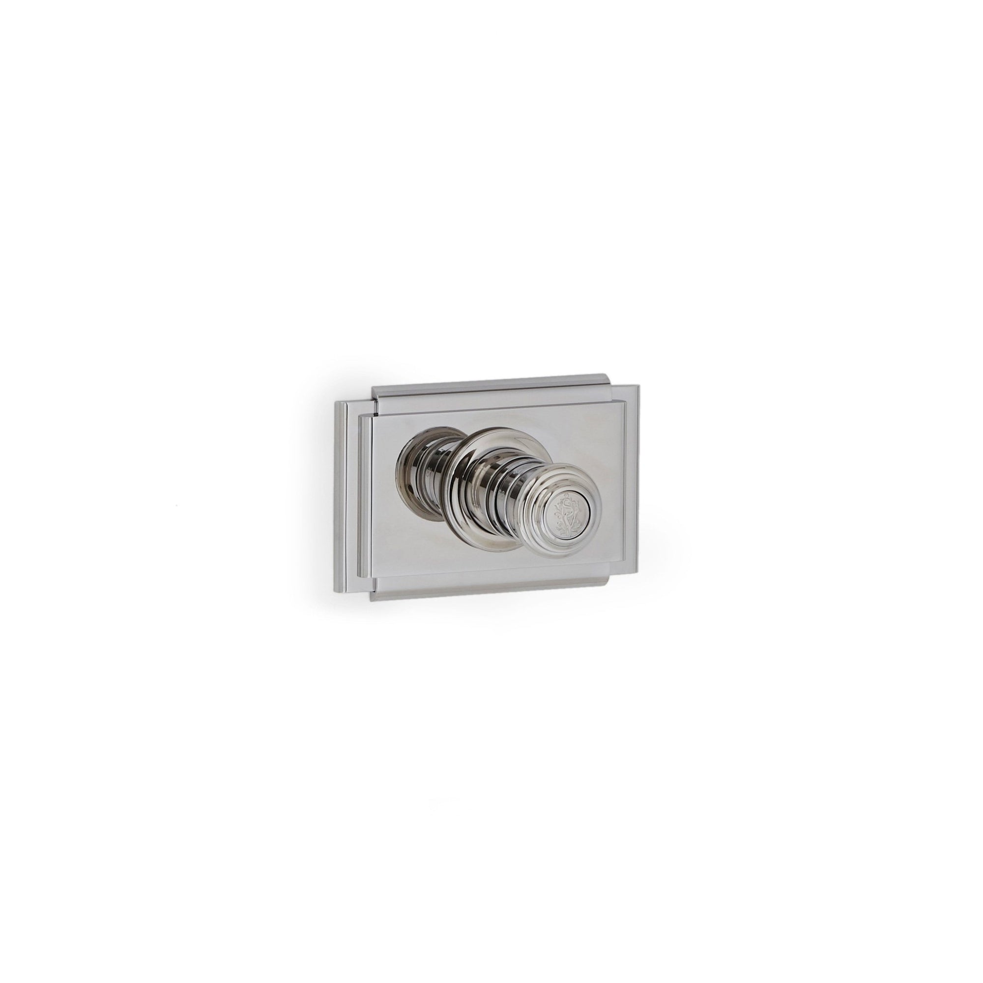 TMO10PL-LOGO-CP Sherle Wagner International Nouveau High Flow Thermostatic Trim in Polished Chrome metal finish