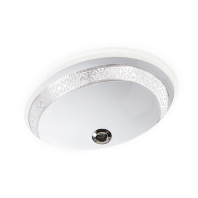 UE15-7EN-HP-WH Sherle Wagner International Banded Polished Platinum Napoleonic Bee on White Ceramic Under Edge Sink
