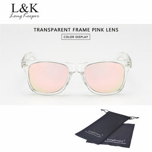 Women Polarized UV400 Transparent Frame Sunglasses