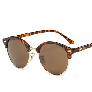 Rivet Frame Colorful Coating Sunglasses
