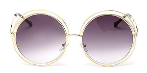 Vintage Round Oversized Mirror  Sunglasses