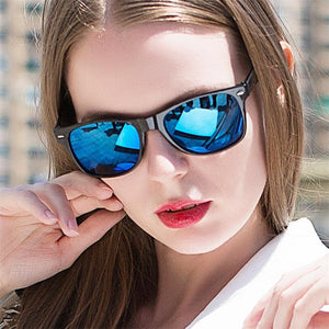 Driving Mirror Coating Points Black Frame Sunglasses