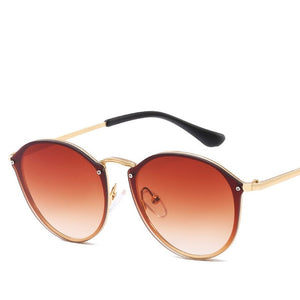 Cat Eye Retro Rimless Sunglasses