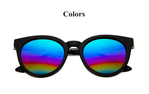 Cat Eye Pink Mirror Sunglasses