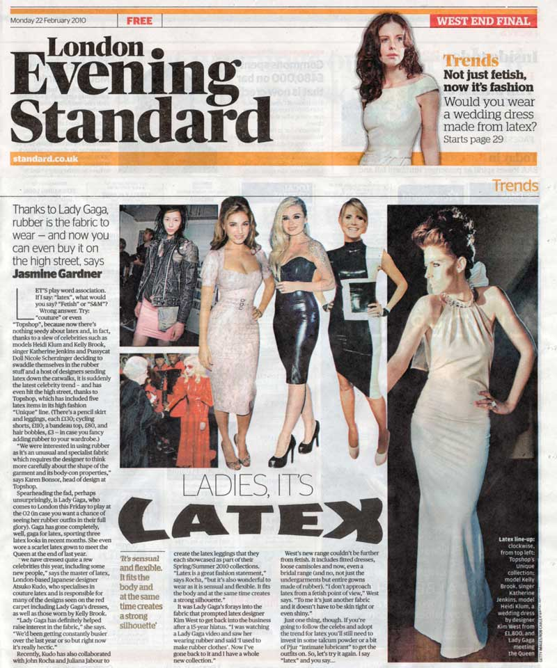 Kim West wedding collection in the Evening Standard