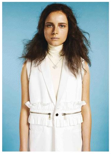 Kim West turtle neck top in Exit Magazine