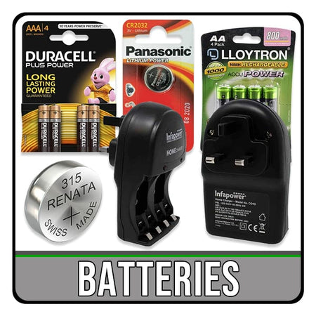 batteries including rechargeable and coin cell battery. chargers for AA and AAA. iChoose Ltd.